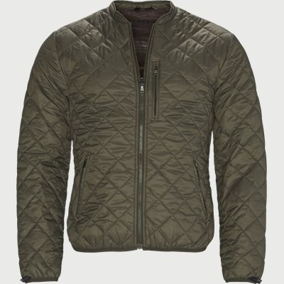 Inzip Quilt Down Jakke Regular | Inzip Quilt Down Jakke | Army