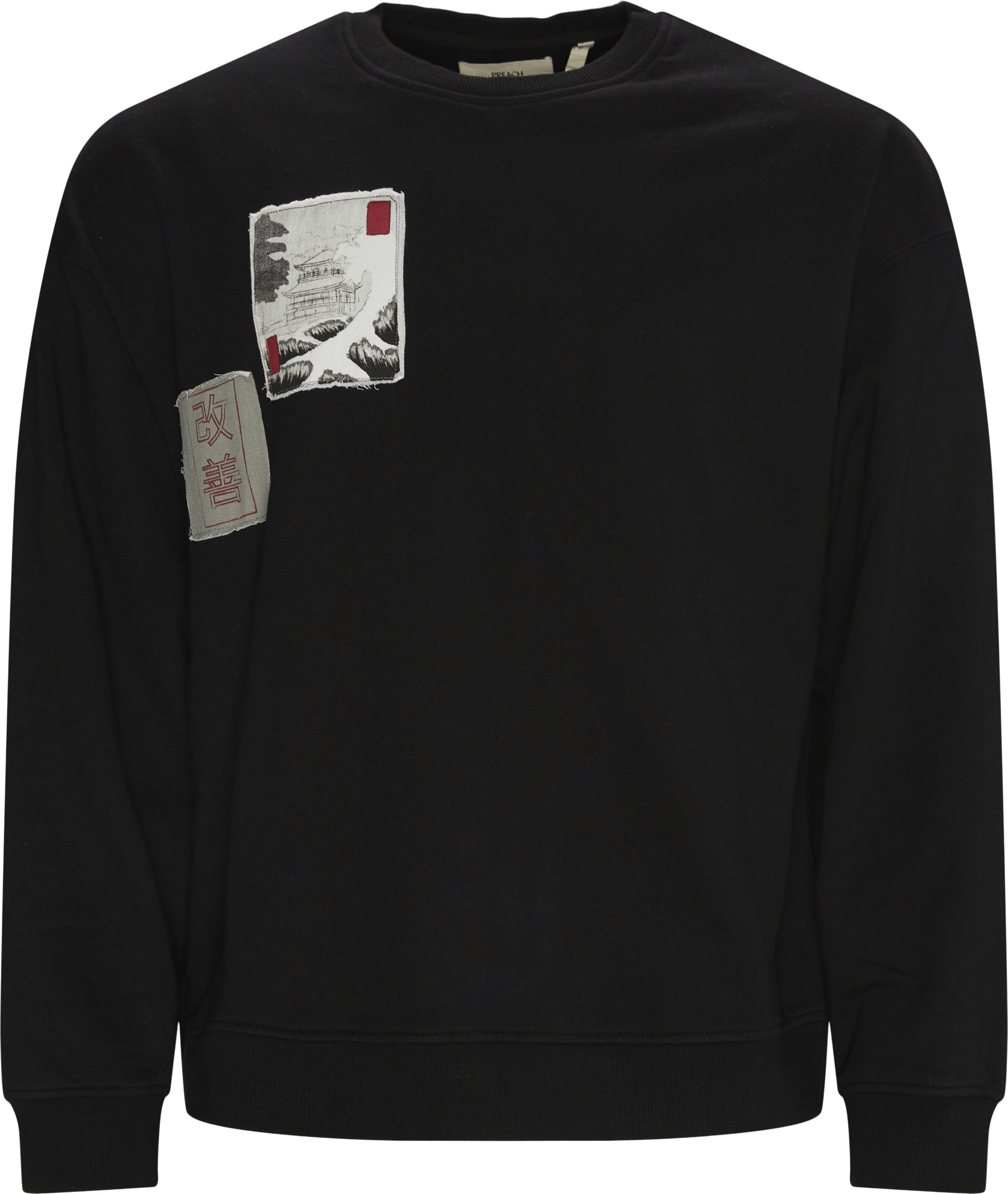 Oversized Patch Crewneck - Sweatshirts - Oversized - Sort