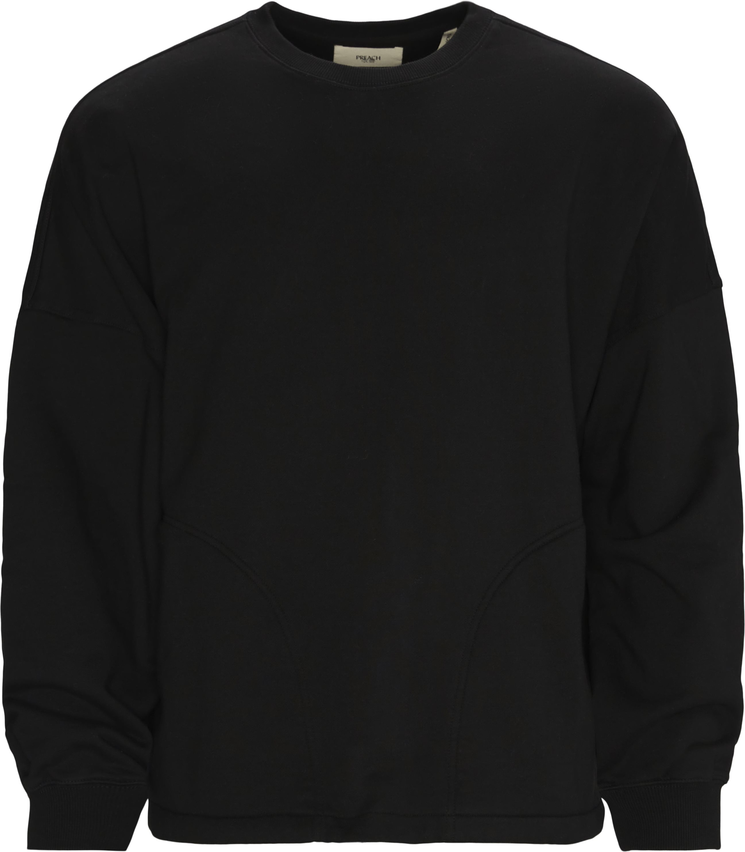 Oversized Sidepocket Crewneck  - Sweatshirts - Oversized - Sort