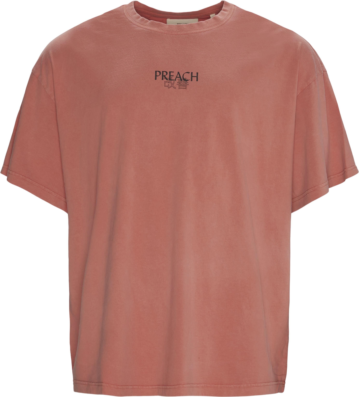 Japanese Logo Tee - T-shirts - Oversized - Rød