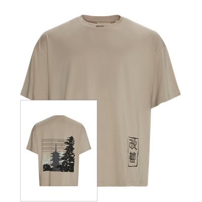 Old Temple Tee Oversized | Old Temple Tee | Sand