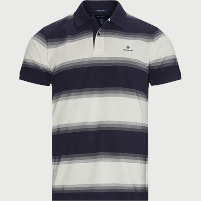 Gradient Pique Polo T-shirt Regular | Gradient Pique Polo T-shirt | Blå