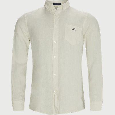 Garment Dyed Linen Skjorte Regular fit | Garment Dyed Linen Skjorte | Sand