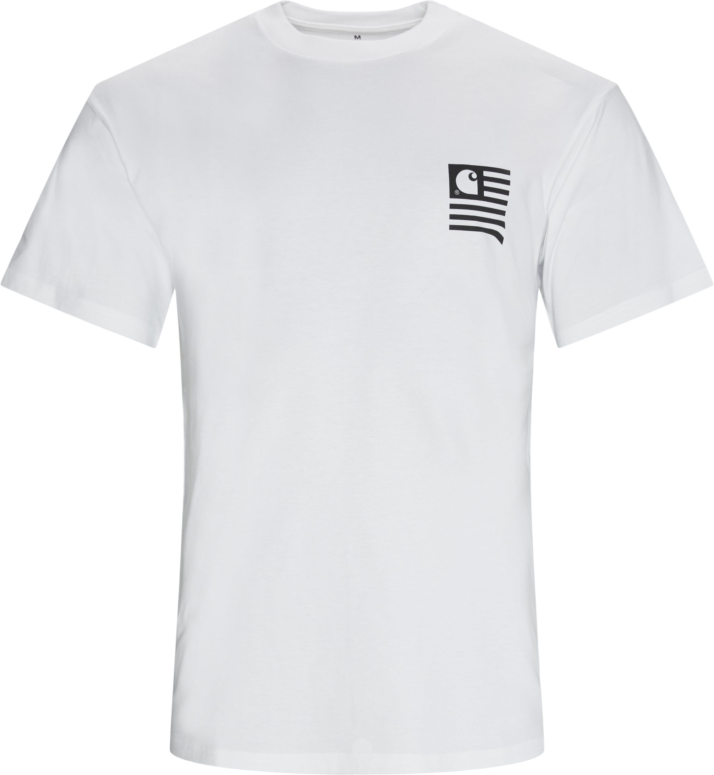Wavy State Tee - T-shirts - Regular fit - Hvid