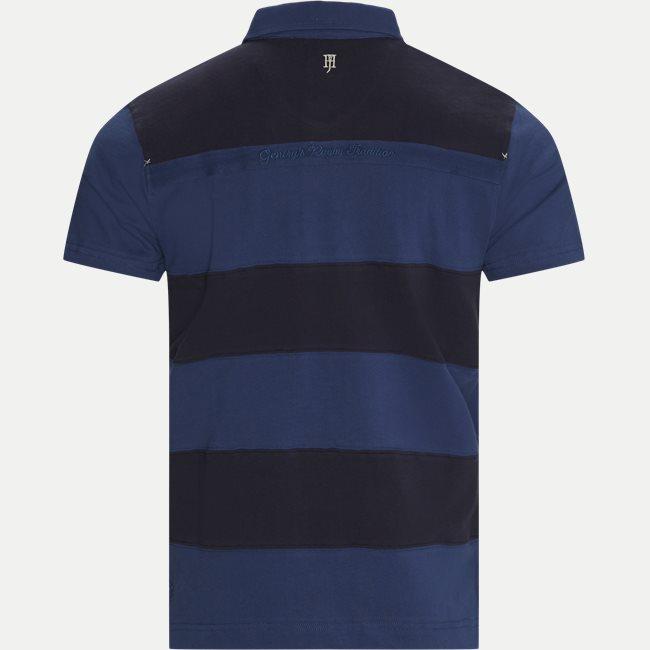 Striped Back Polo T-shirt