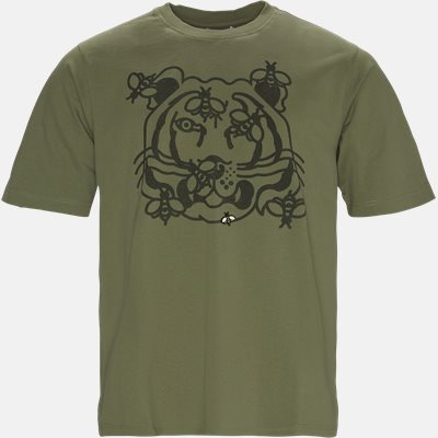 Bee A Tiger Skate Tee Regular fit | Bee A Tiger Skate Tee | Army