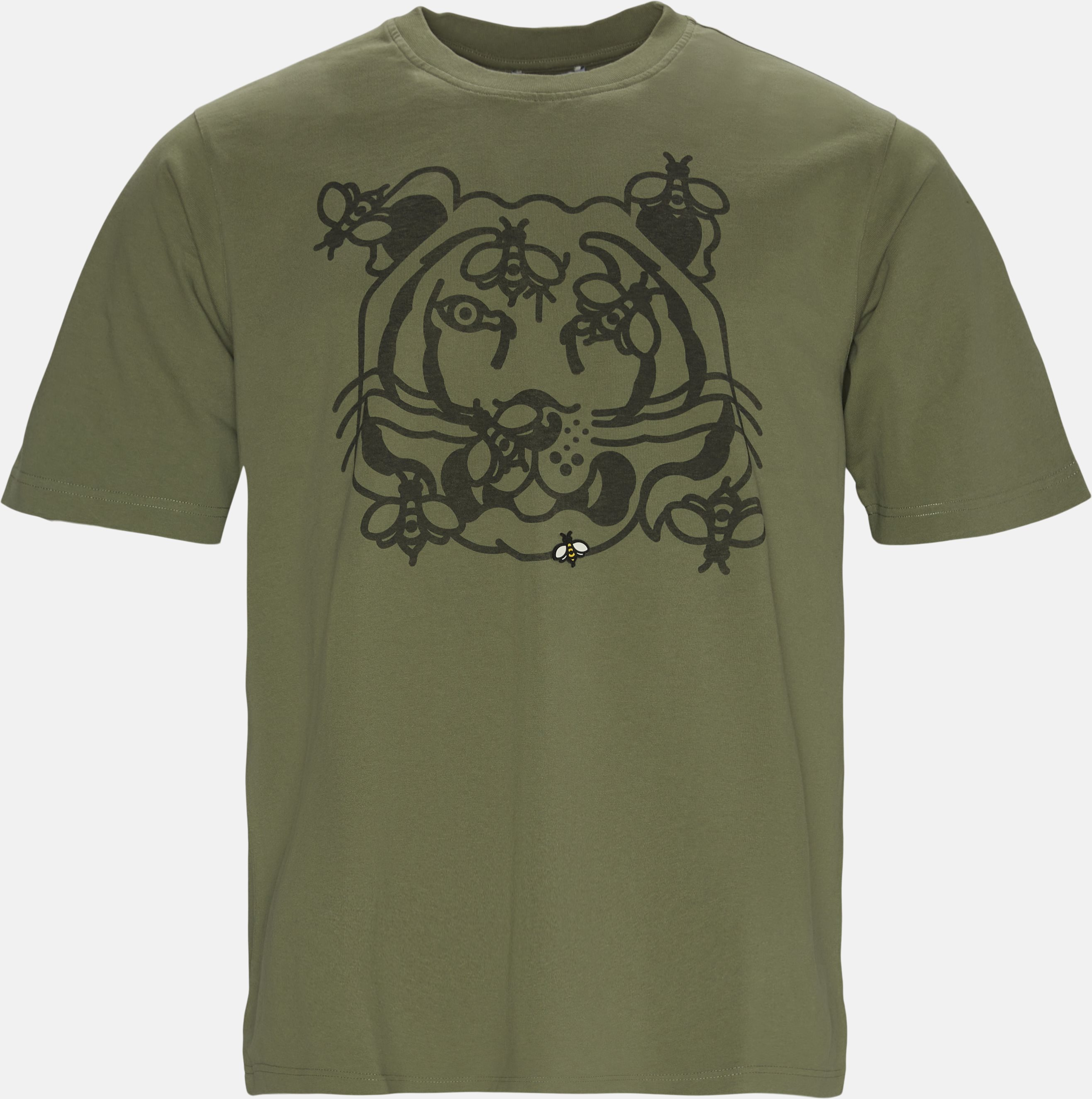 Bee A Tiger Skate Tee - T-shirts - Regular - Army