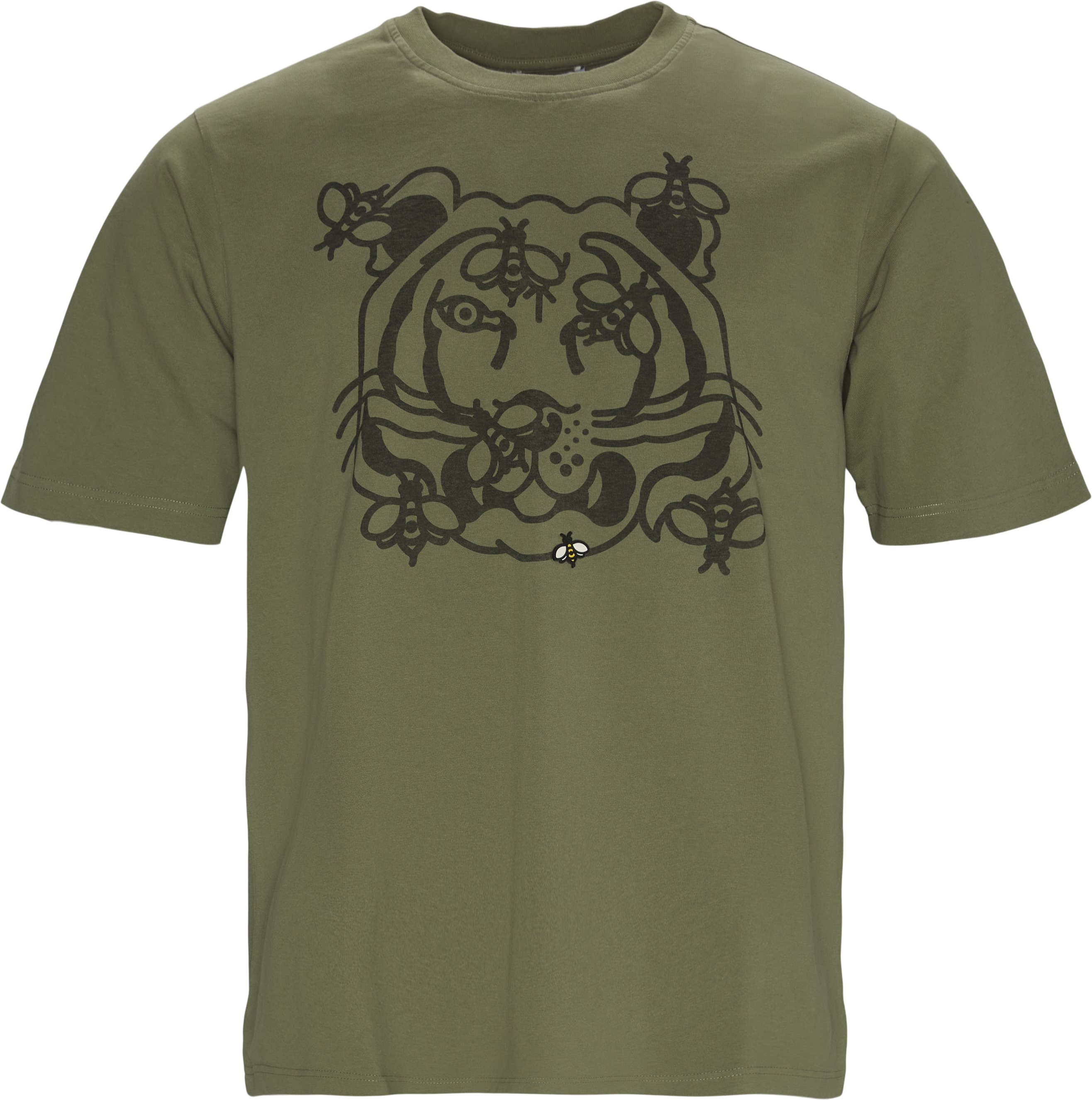 Bee A Tiger Skate Tee - T-shirts - Regular fit - Army