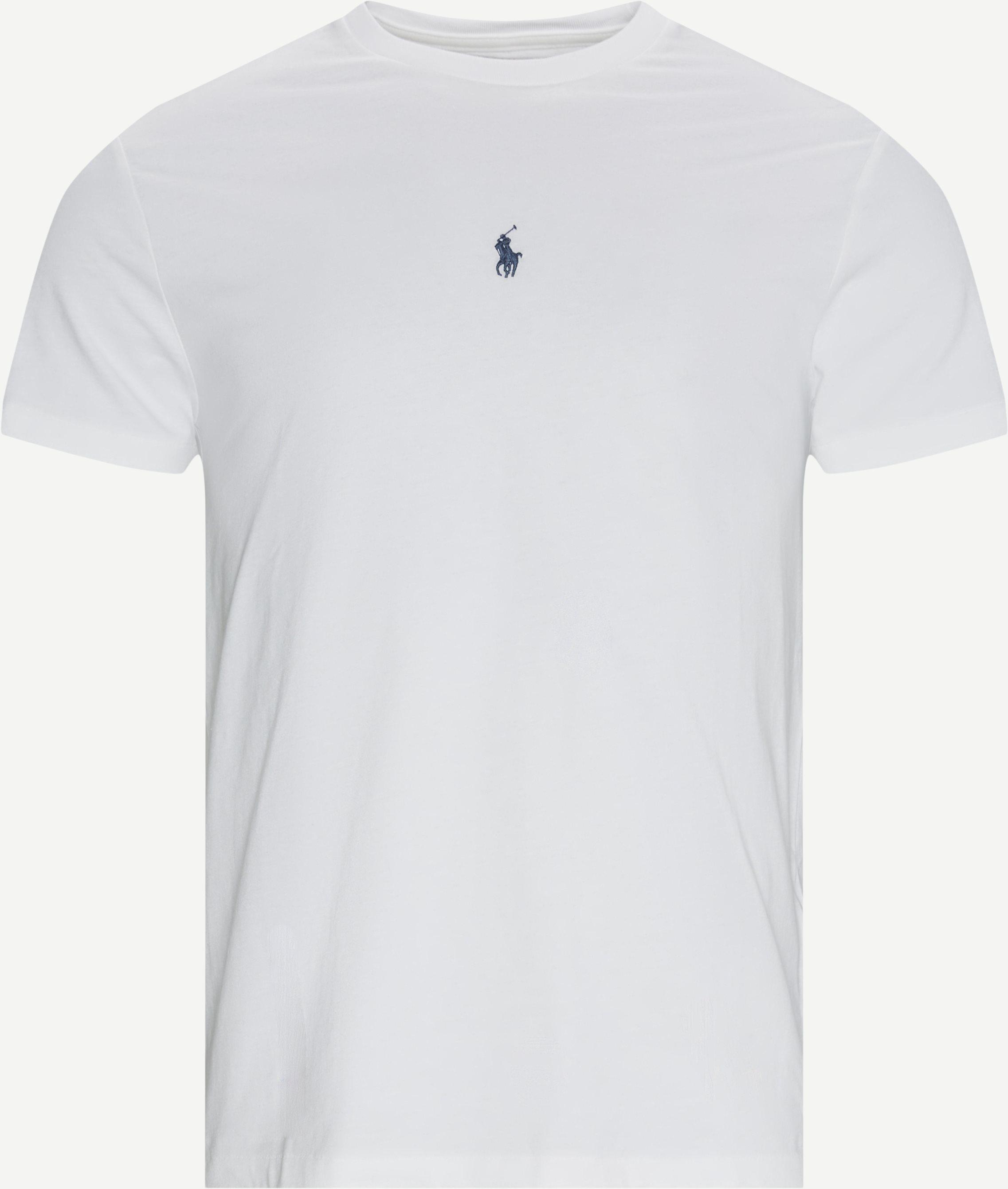 Logo T-shirt - T-shirts - Slim fit - Hvid
