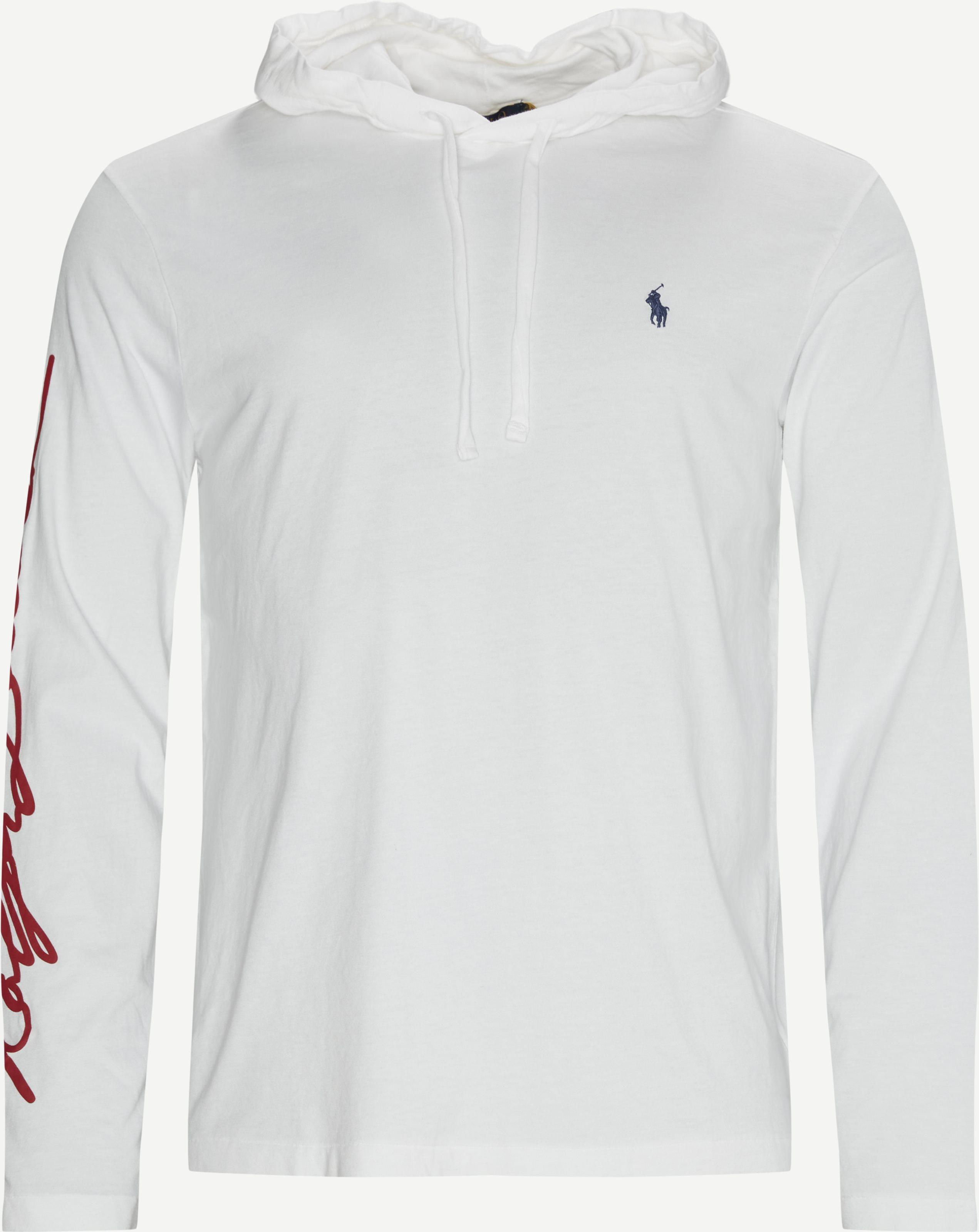 Hooded L/Æ T-shirt - T-shirts - Regular - White