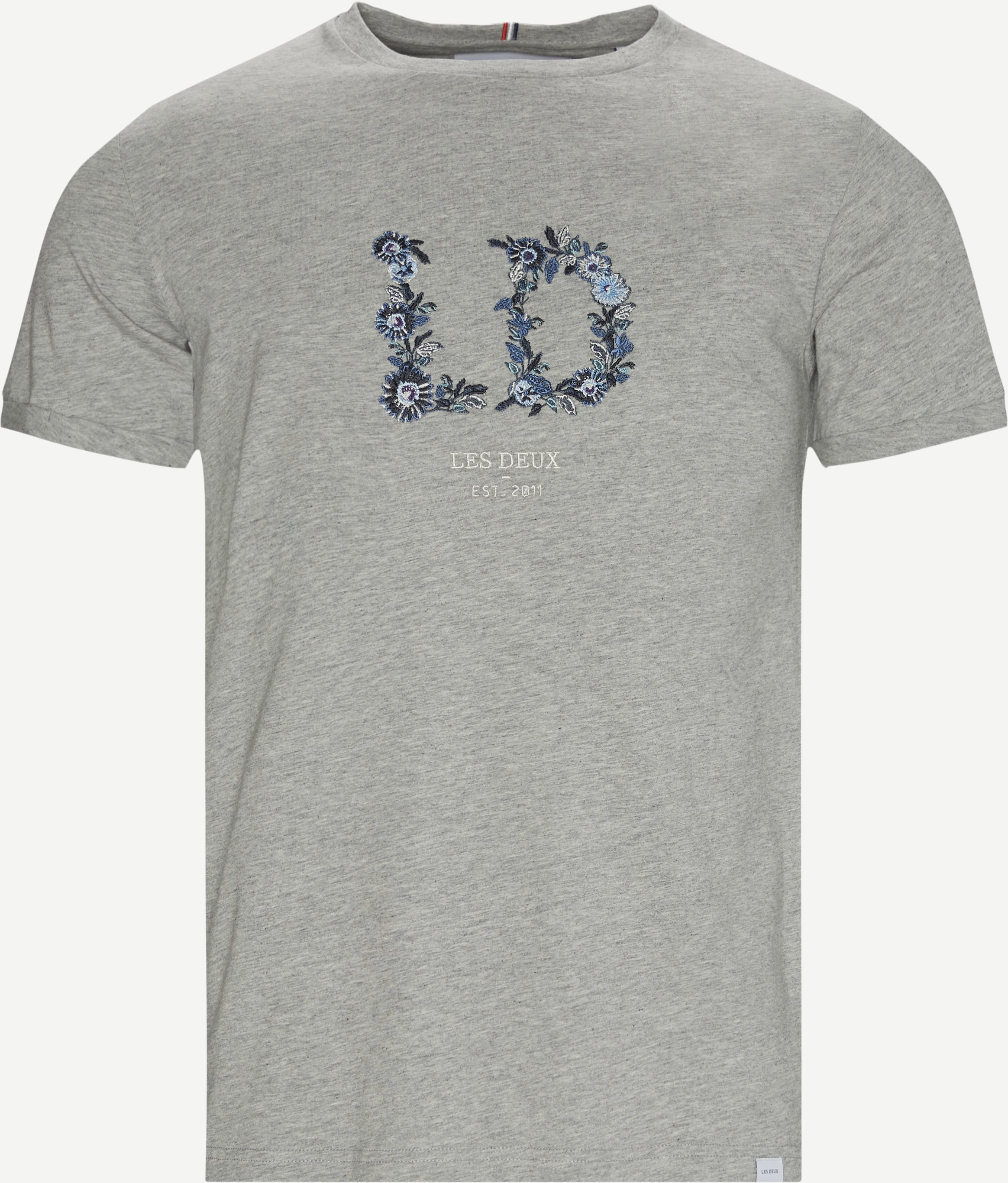 Fiori T-shirt - T-shirts - Regular - Grey