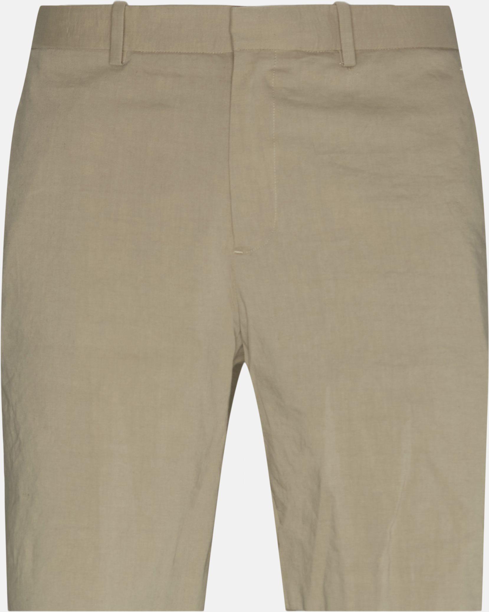 Linen Shorts - Shorts - Slim - Sand