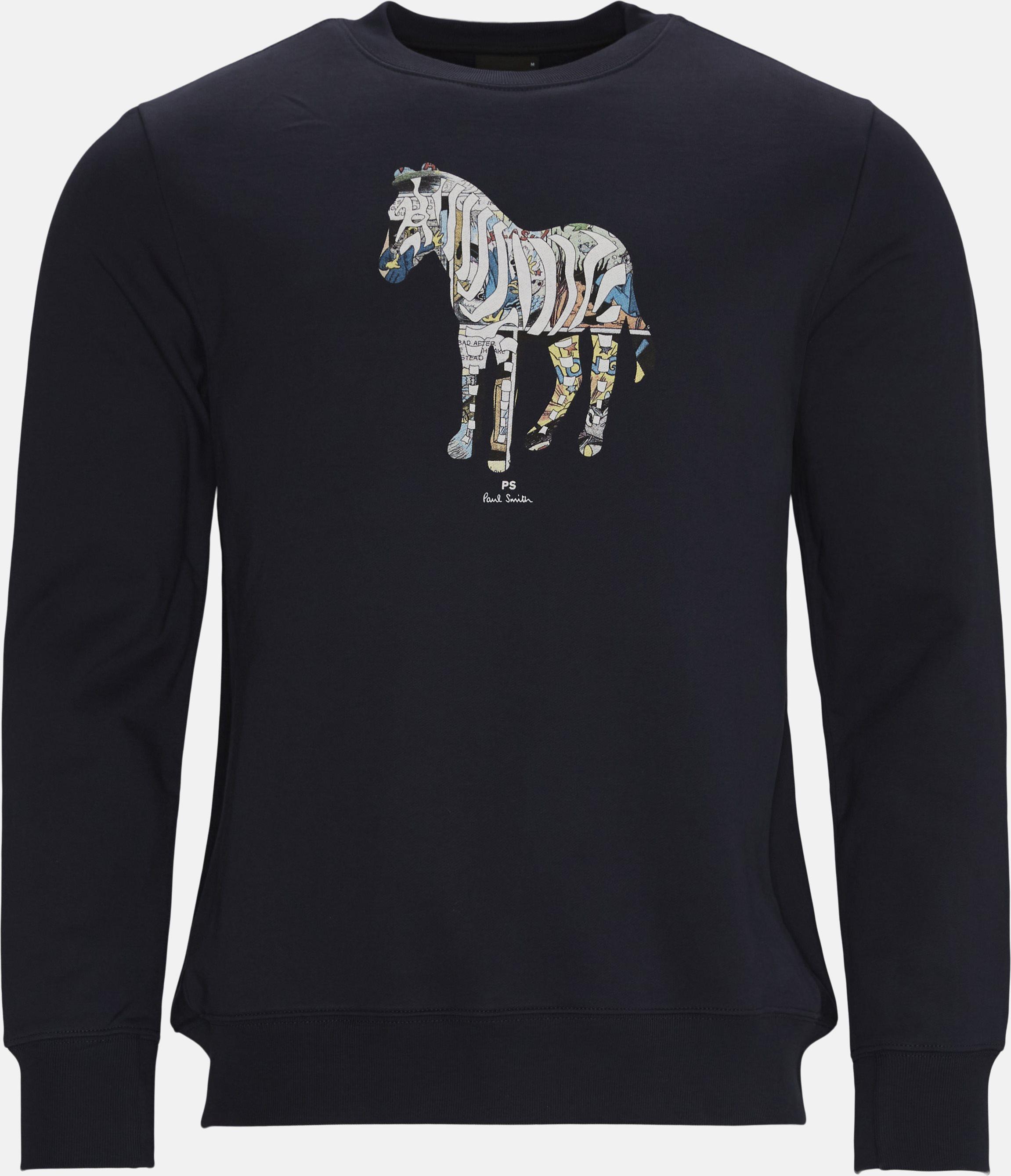 Zebra Sweatshirt - Sweatshirts - Regular fit - Blå
