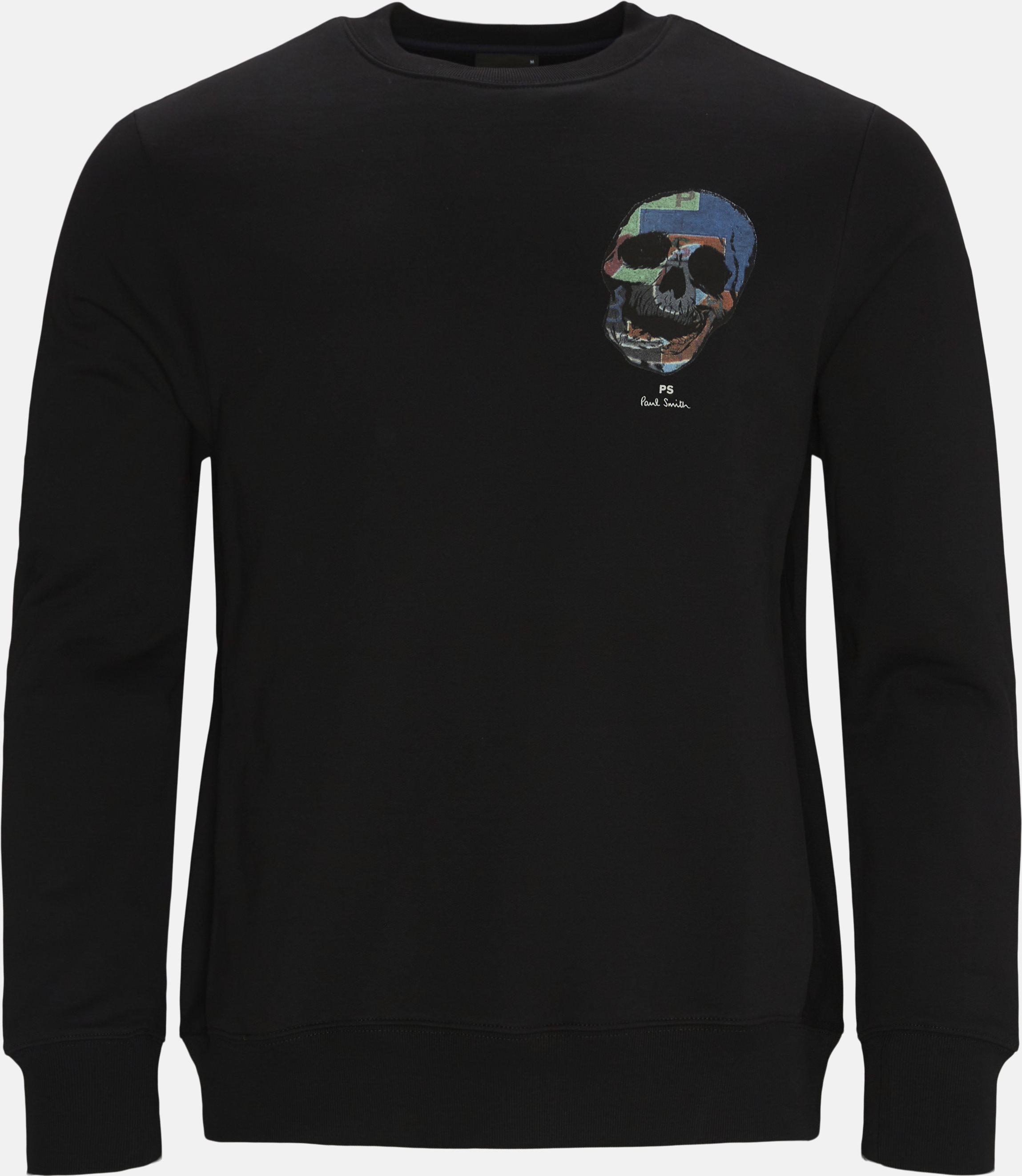 Skull Sweatshirt - Sweatshirts - Regular fit - Sort