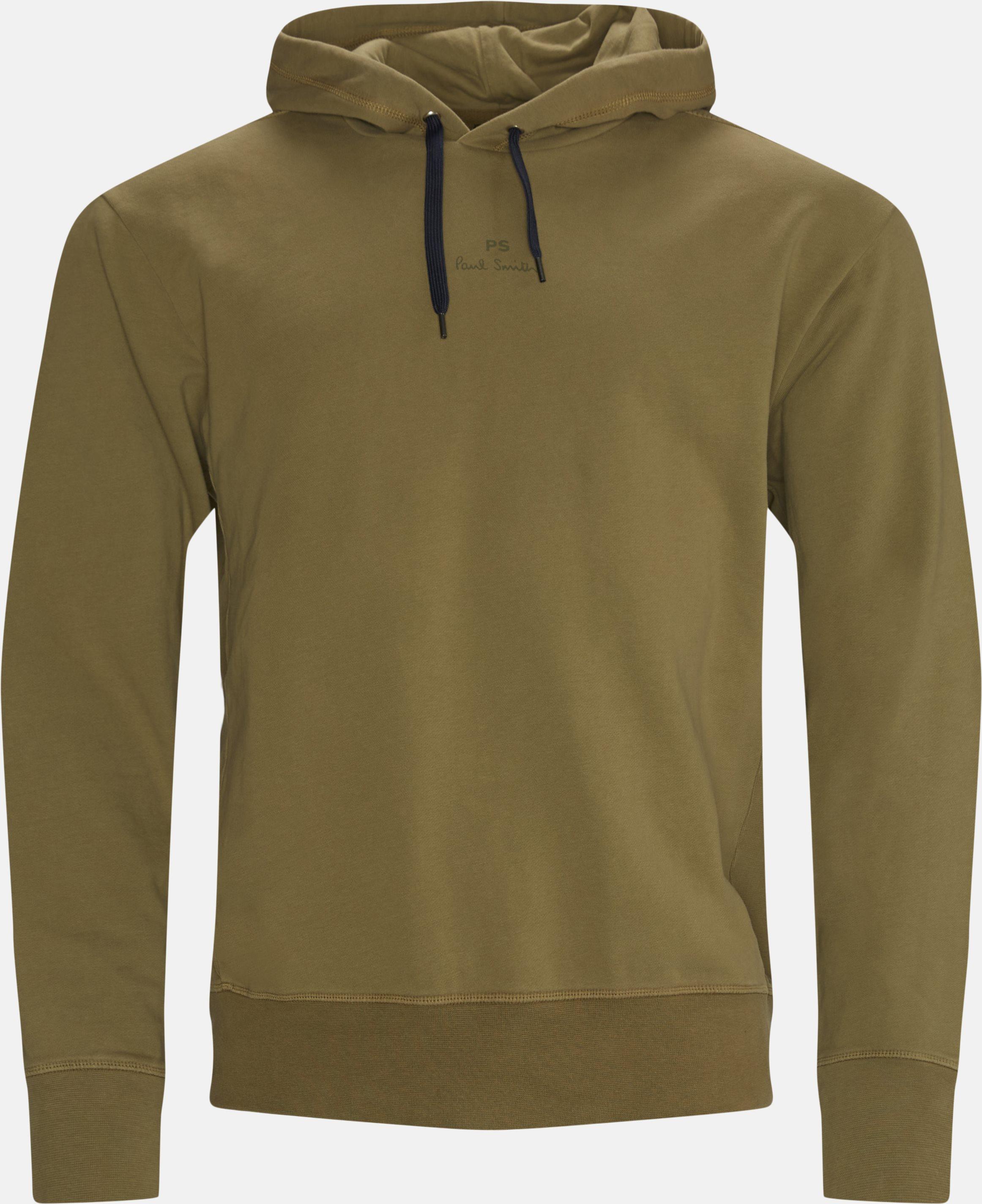 Logo Hoodie - Sweatshirts - Regular fit - Army