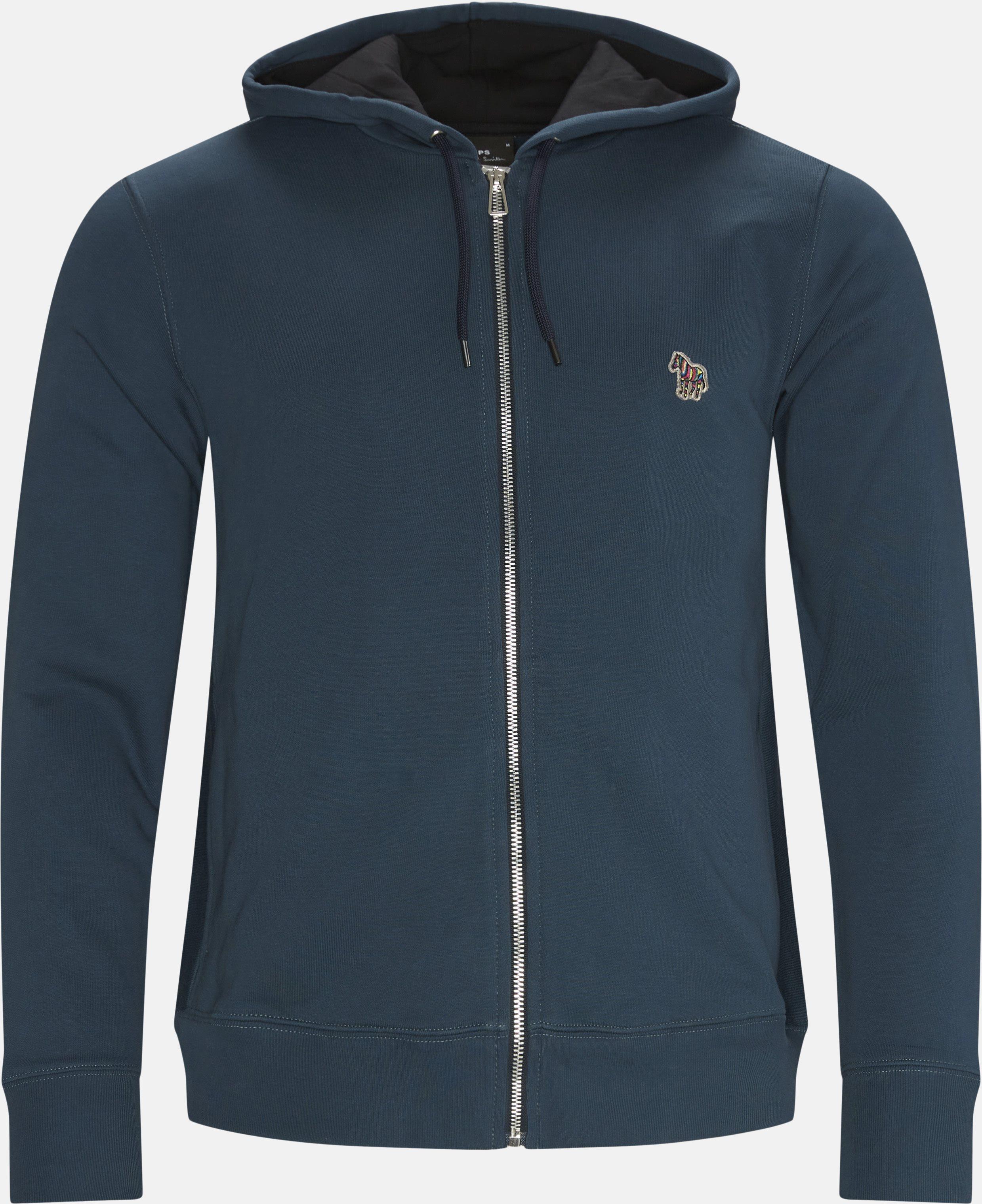Reg Zip Hoodie - Sweatshirts - Regular fit - Blå