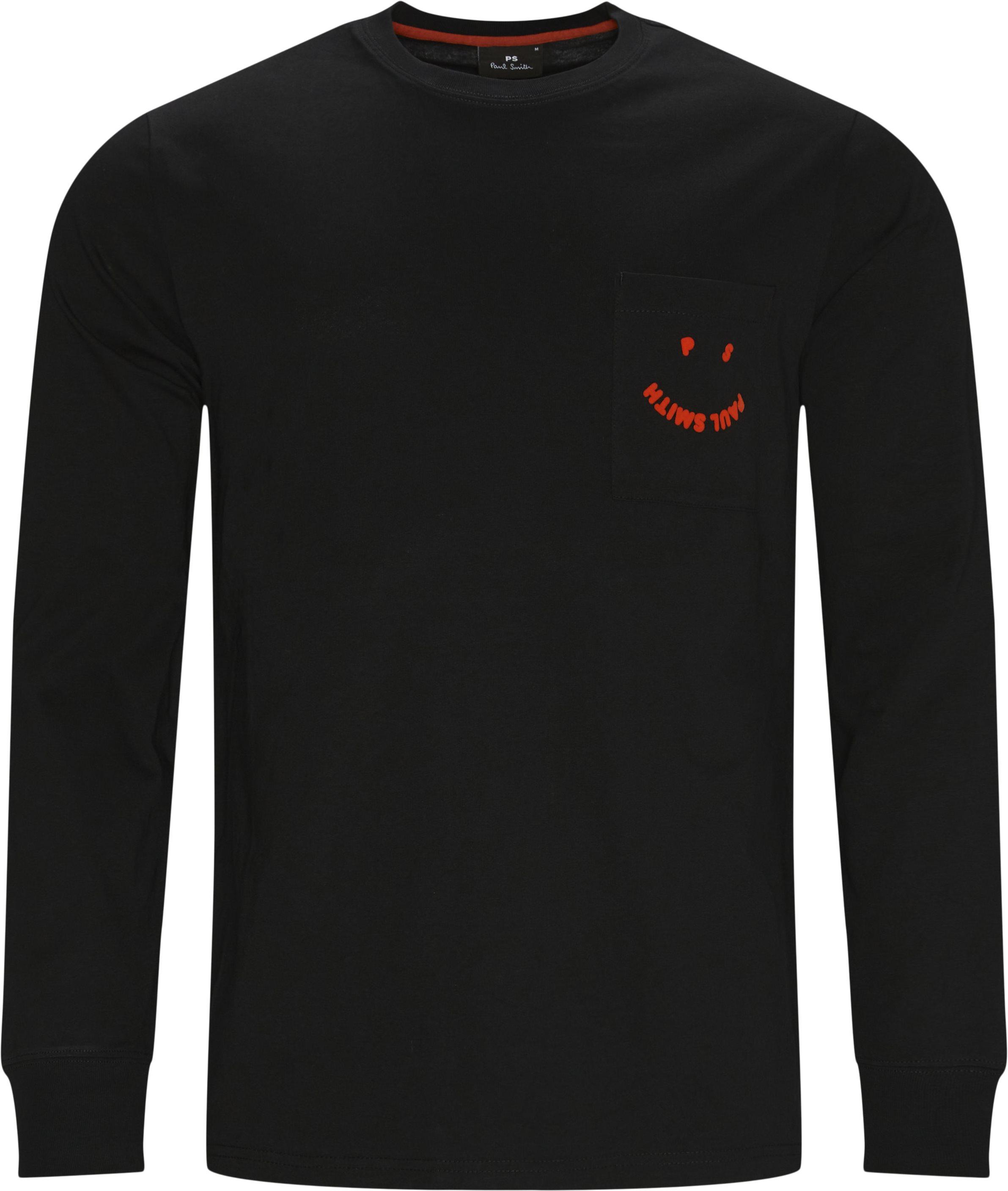 Long-sleeved t-shirts - Regular fit - Black