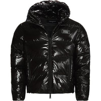 Hooded Down Jacket Regular fit | Hooded Down Jacket | Sort