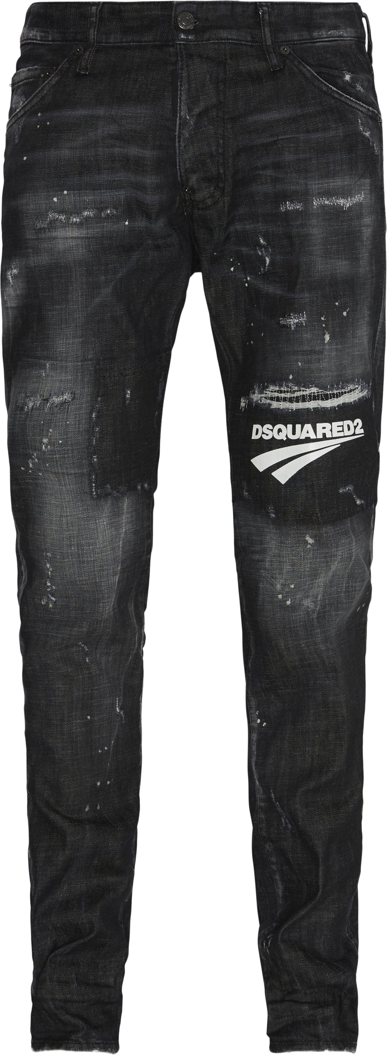 Broken Logo Jeans - Jeans - Sort