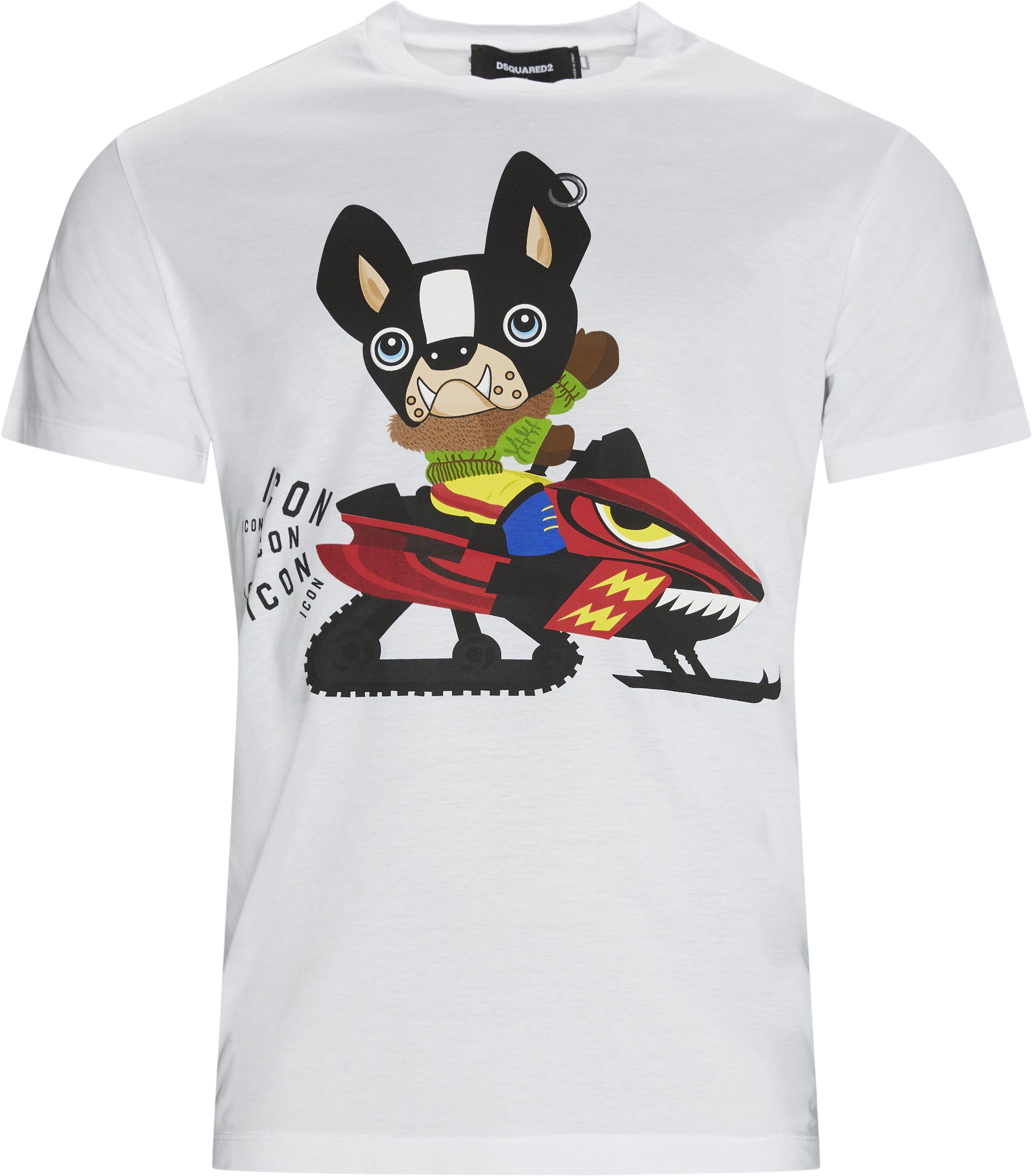 Print Tee - T-shirts - Regular fit - Hvid