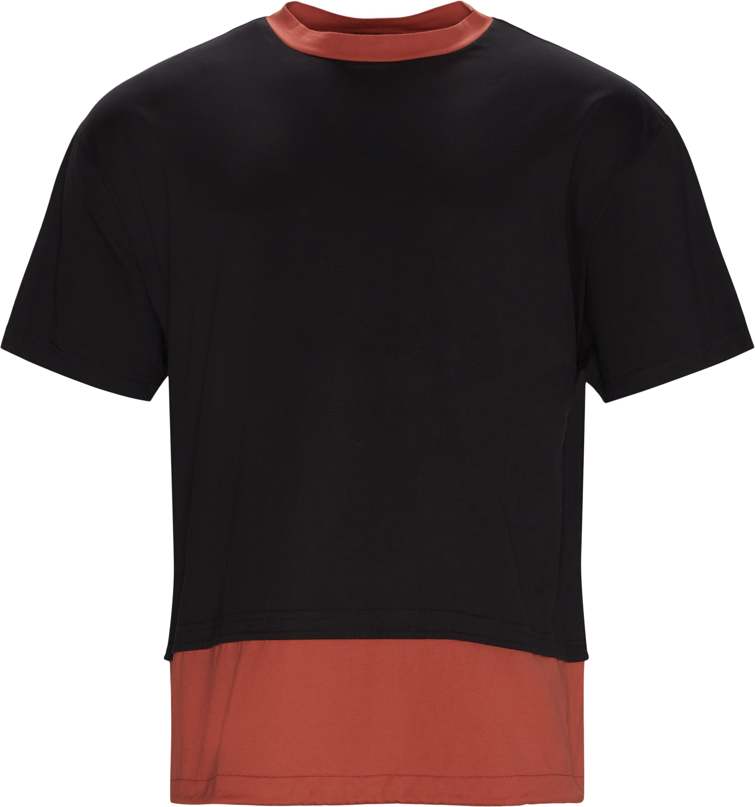 T-shirts - Loose fit - Sort