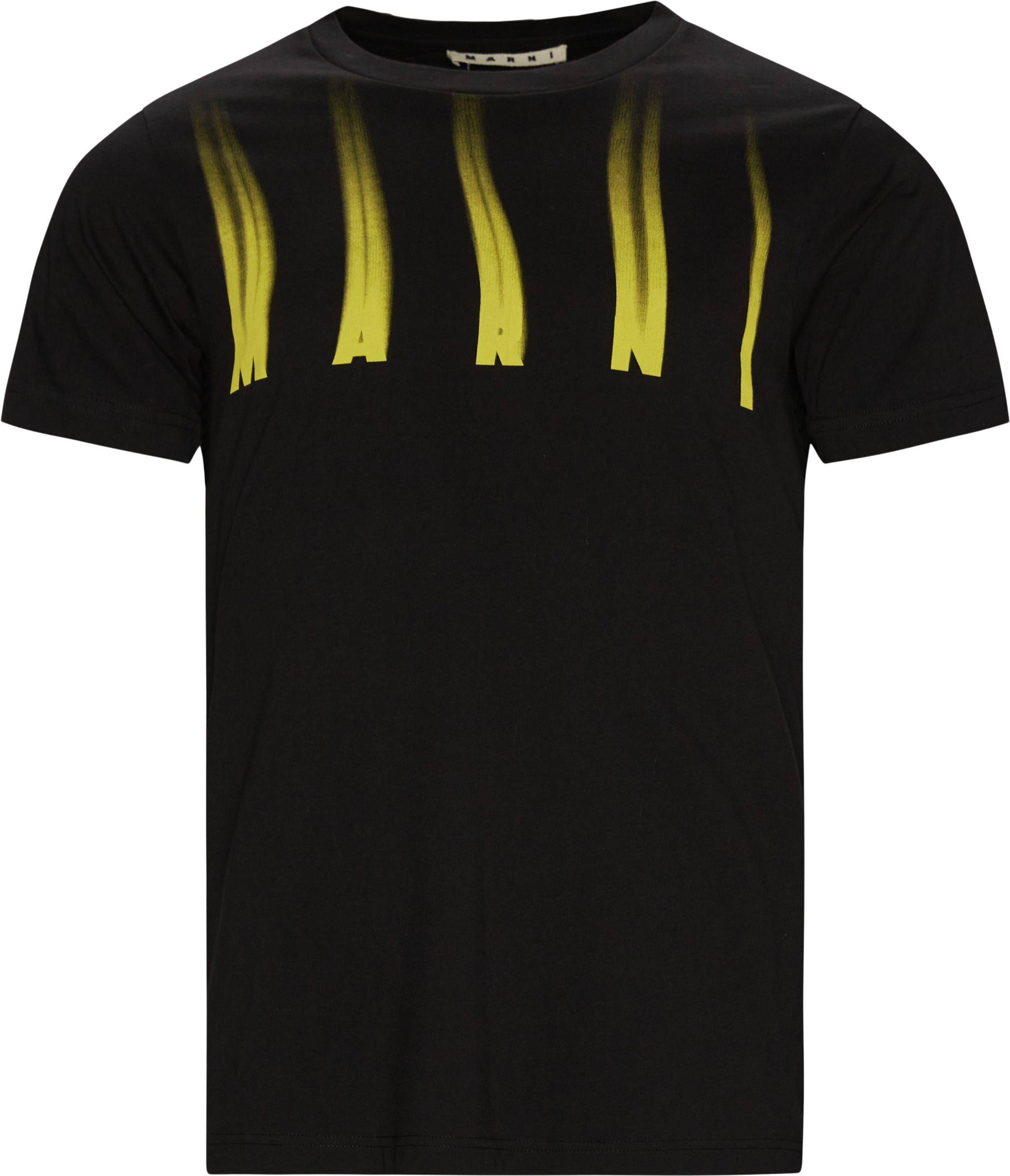 Burn Tee - T-shirts - Regular fit - Sort