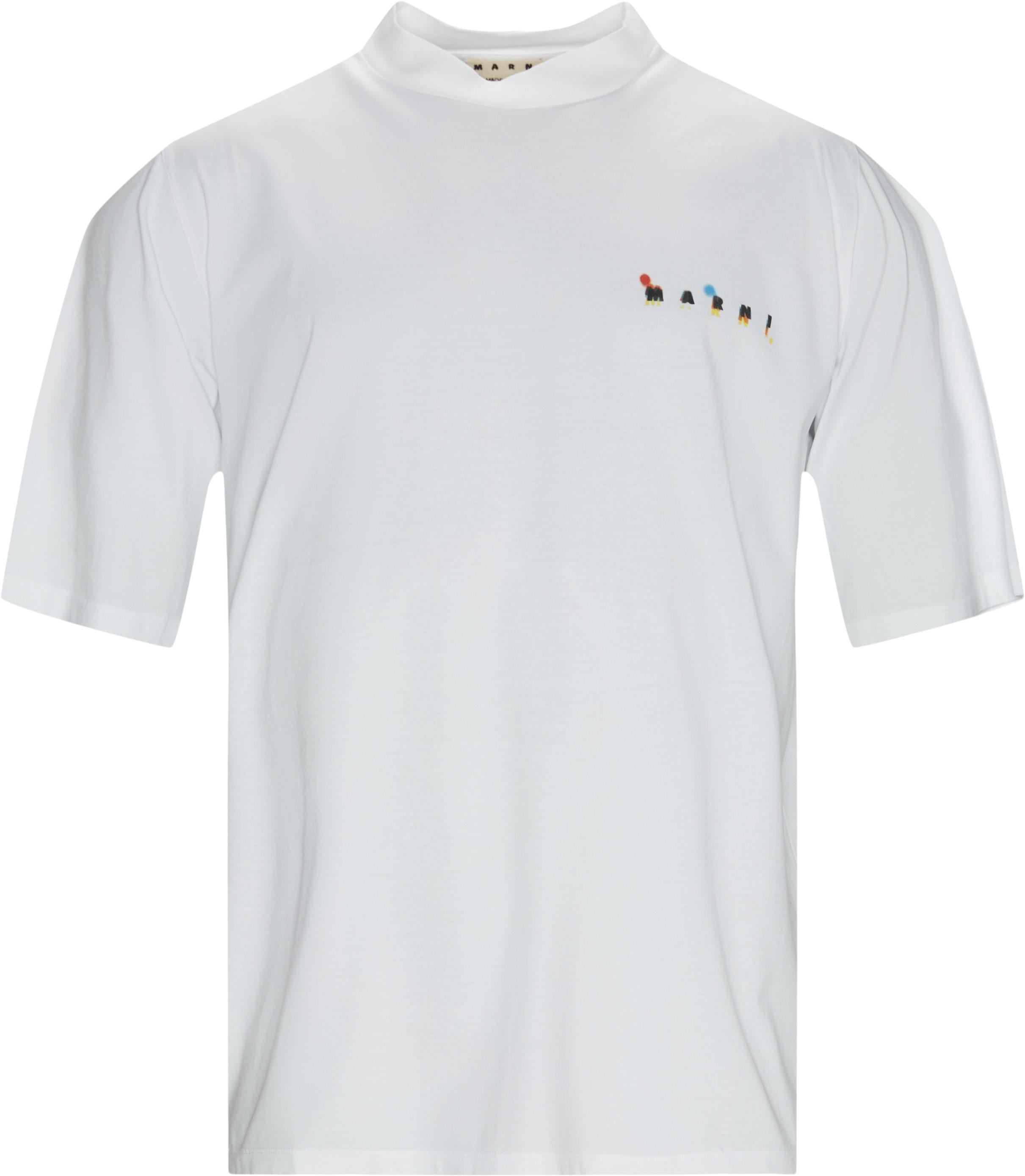Spray Tee - T-shirts - Loose fit - Hvid