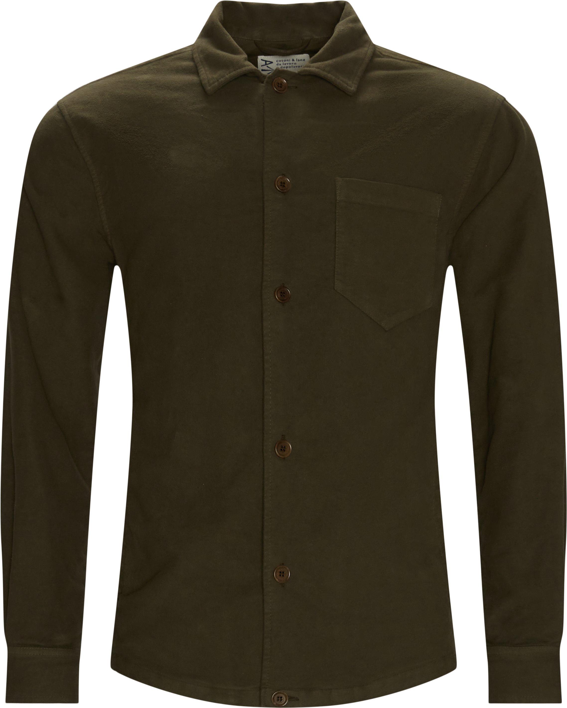 Moleskin Shirt - Skjorter - Regular fit - Army