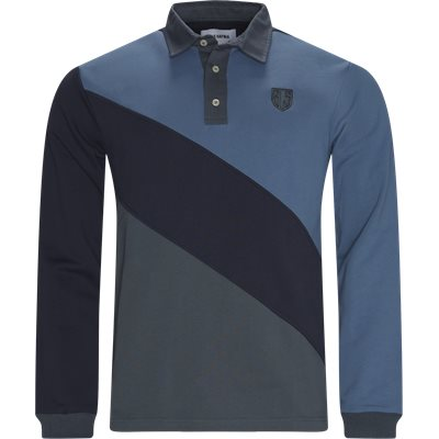 New Bini Rugby Polo Regular fit   New Bini Rugby Polo   Blå