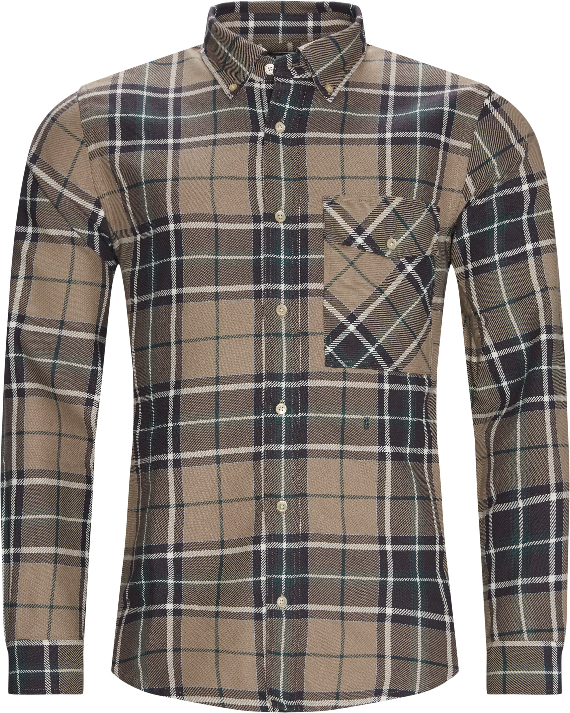Relaxed Button Down - Skjorter - Relaxed fit - Grøn