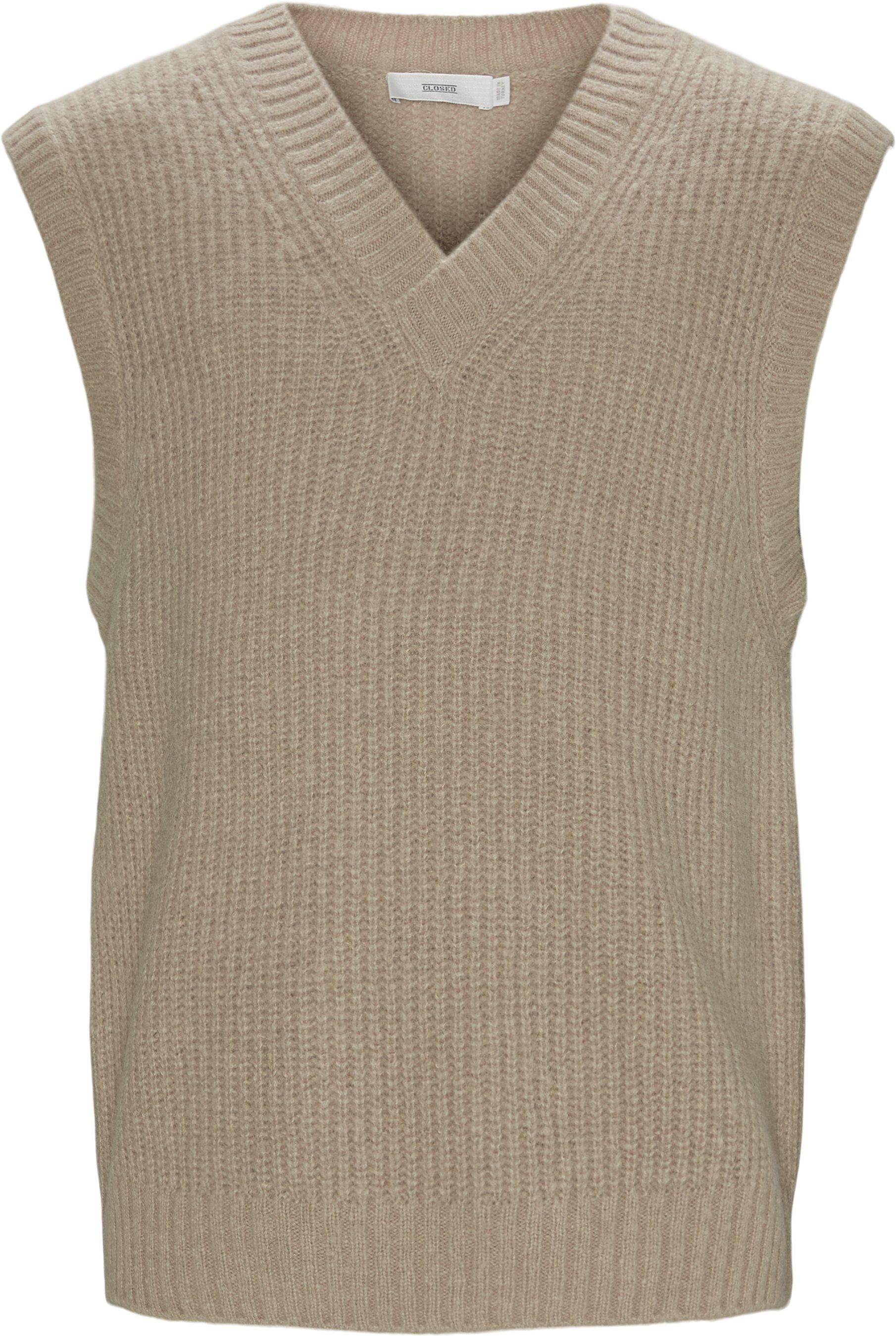 Knitted Vest - Strik - Regular fit - Brun