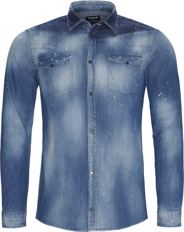 Denim Shirt - Skjorter - Slim fit - Denim