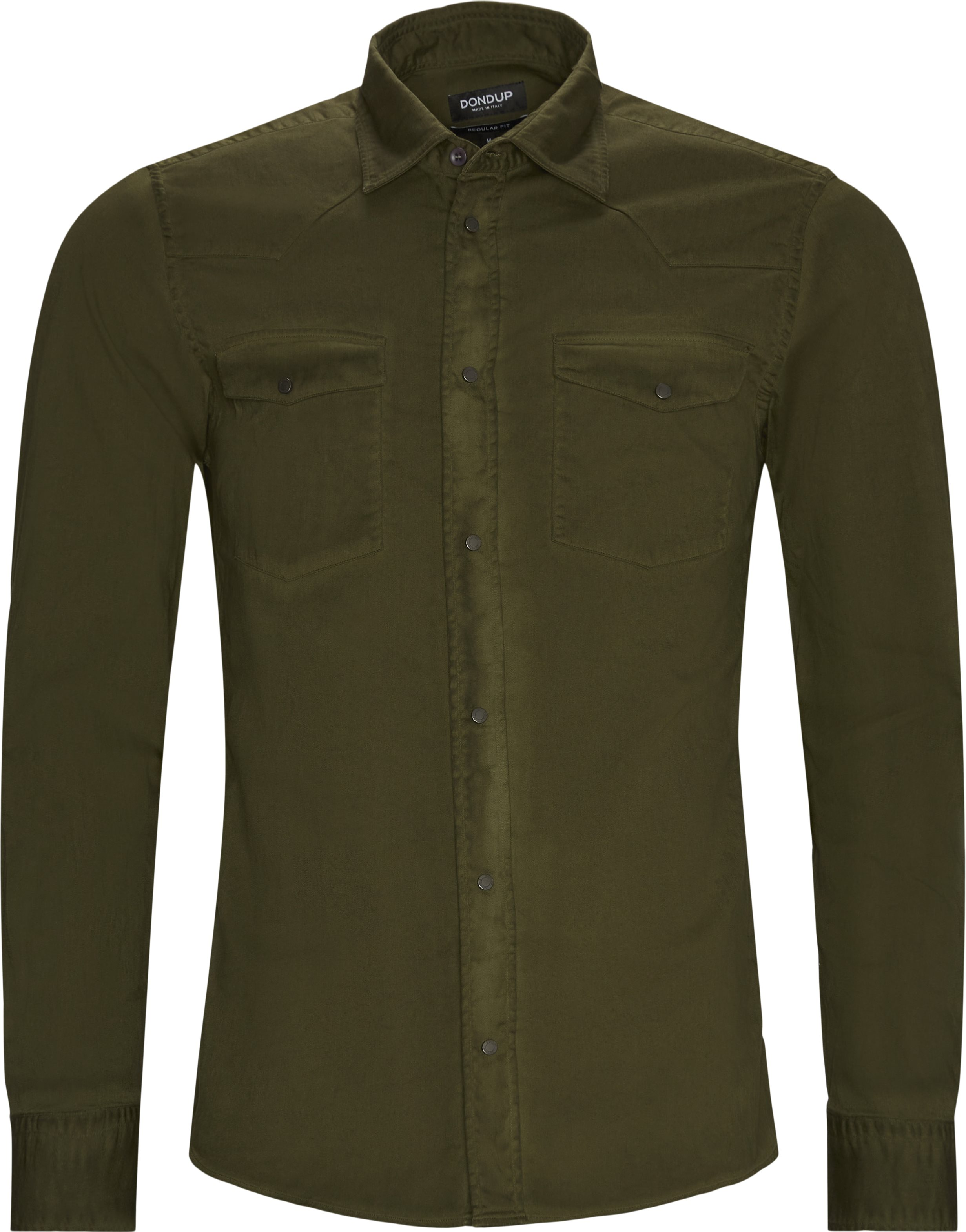 Denim Shirt - Skjorter - Regular fit - Army