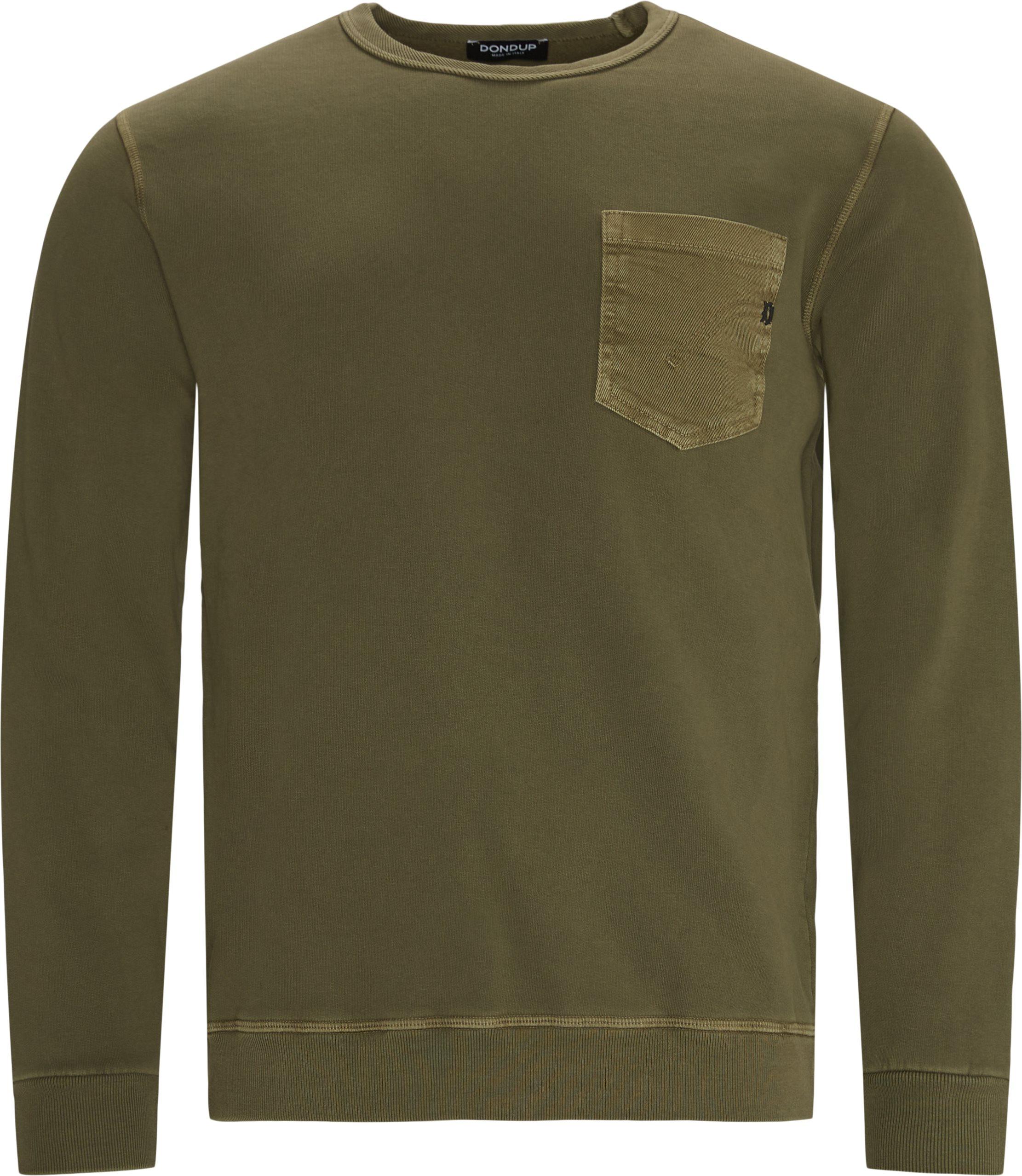 Pocket Crewneck - Sweatshirts - Regular fit - Army