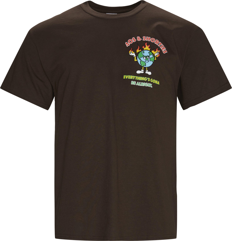 BE ALRIGHT T-shirt - T-shirts - Regular fit - Brun