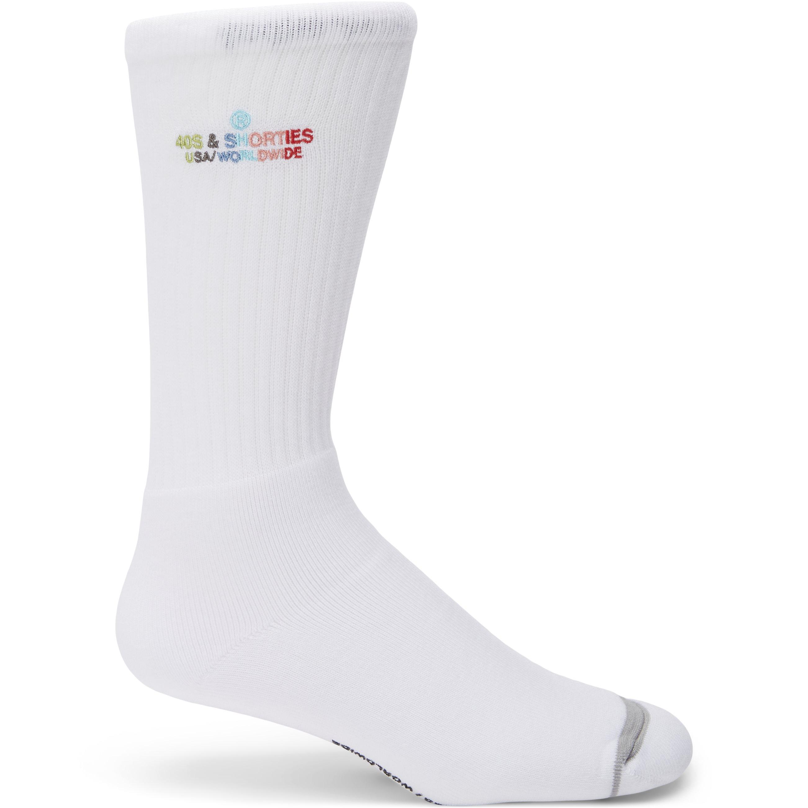 General Text Logo Sock - Strømper - Hvid