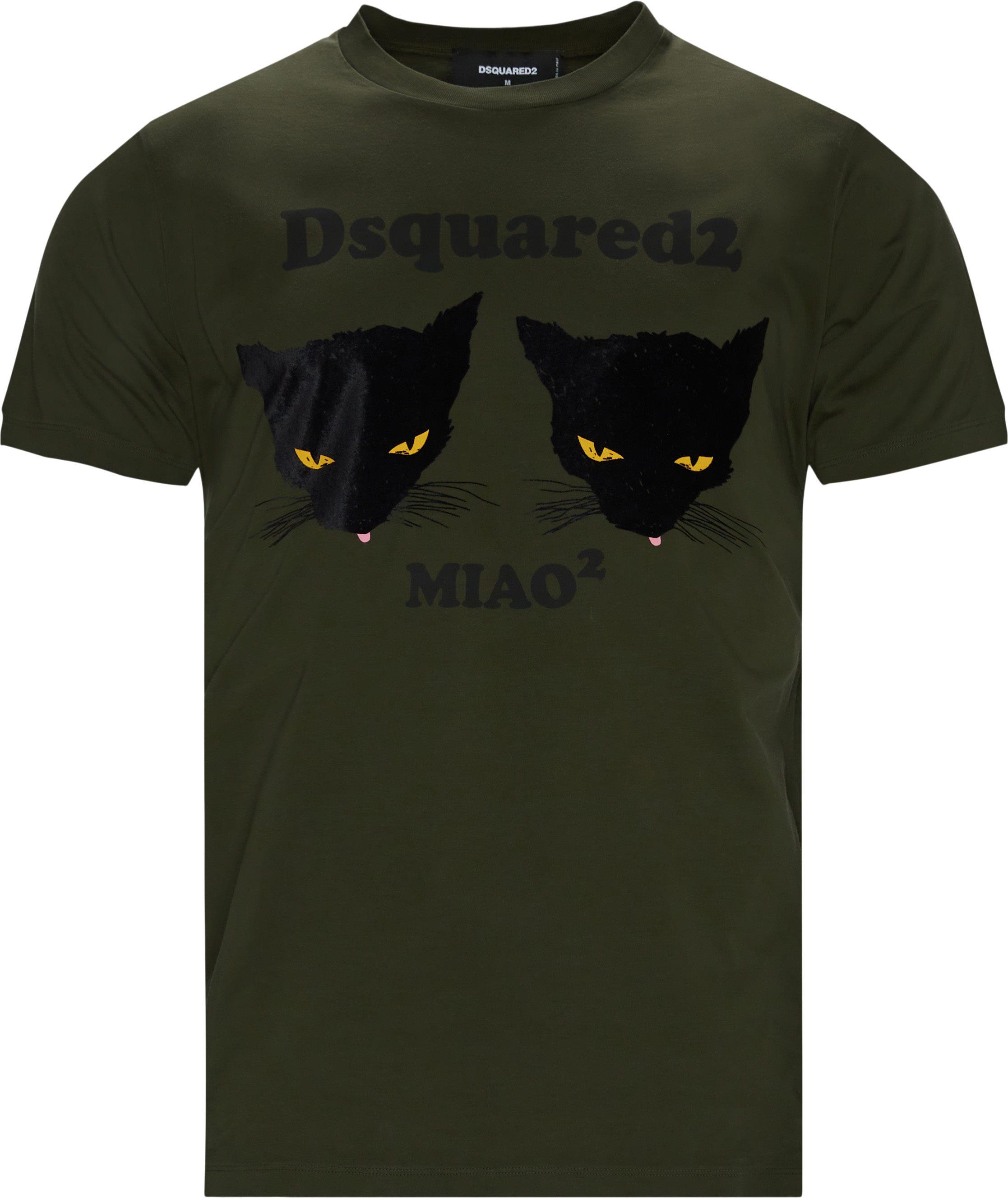 Print Tee - T-shirts - Regular fit - Army