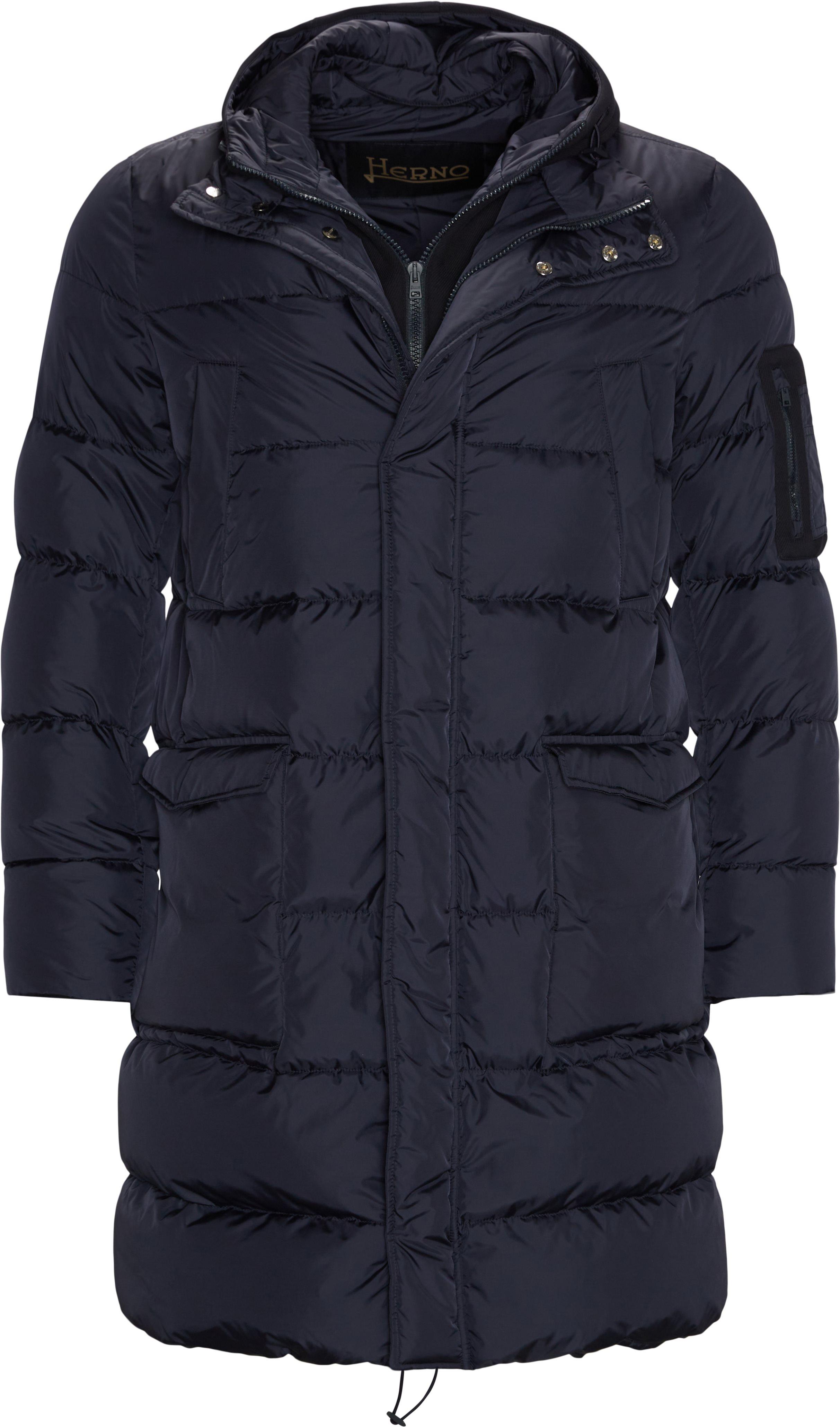 Long Down Jacket - Jakker - Regular fit - Blå