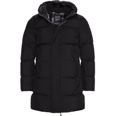 Long Down Jacket Regular fit | Long Down Jacket | Sort