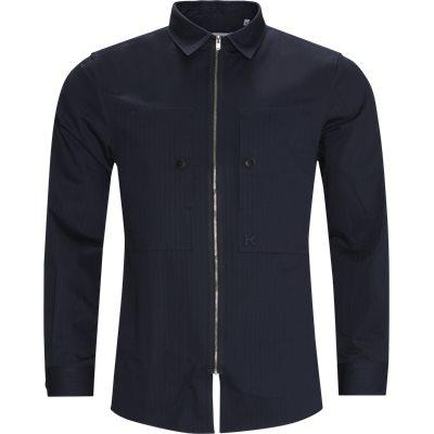 Zip Shirt Regular fit | Zip Shirt | Blå