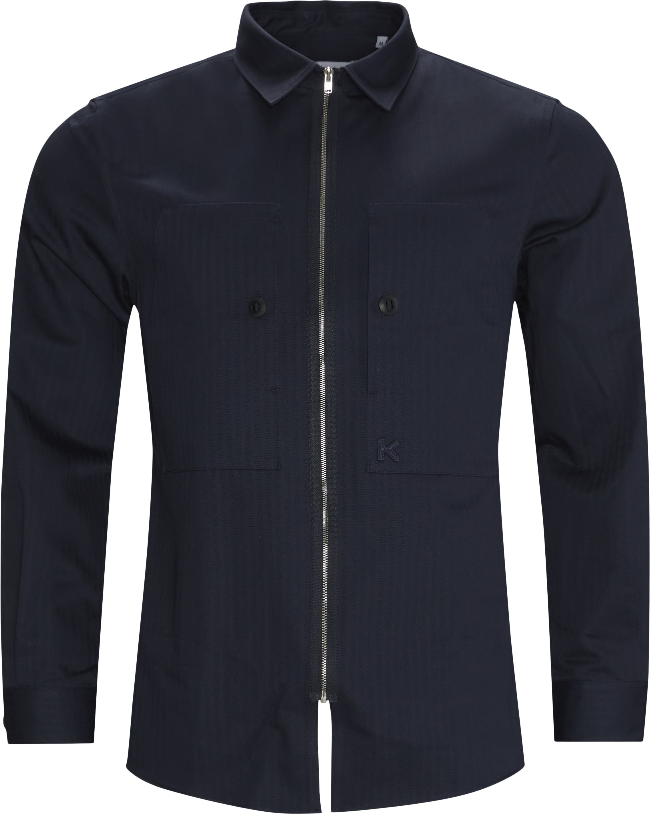 Zip Shirt - Skjorter - Regular fit - Blå