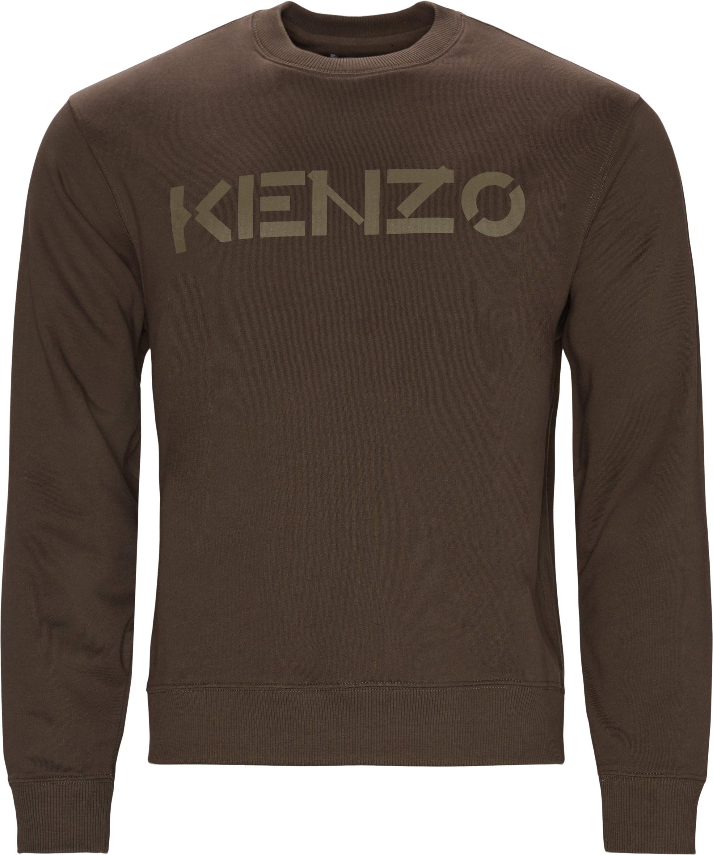 Sweatshirts - Regular fit - Brown