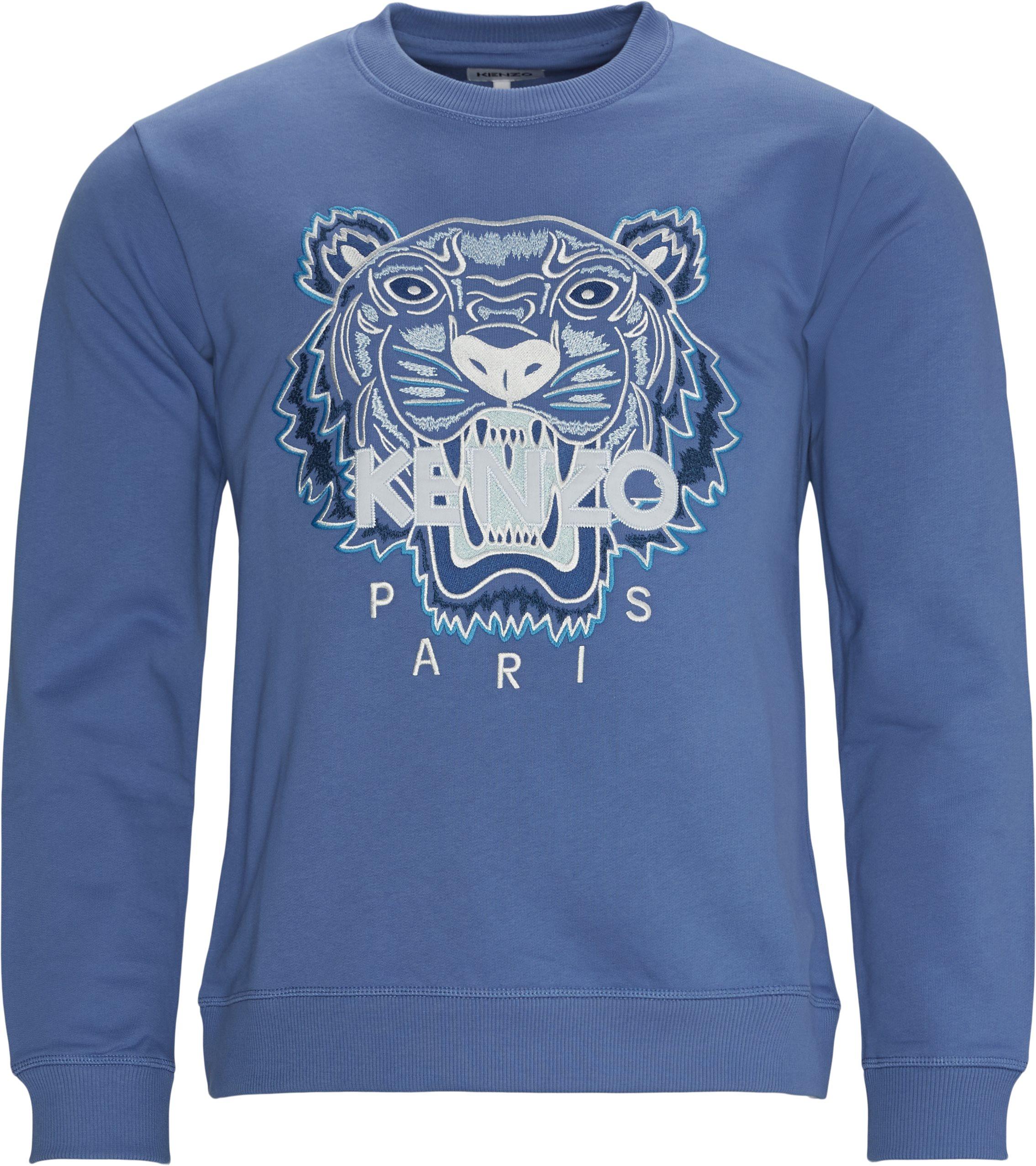 Tiger Sweatshirt - Sweatshirts - Regular fit - Blå