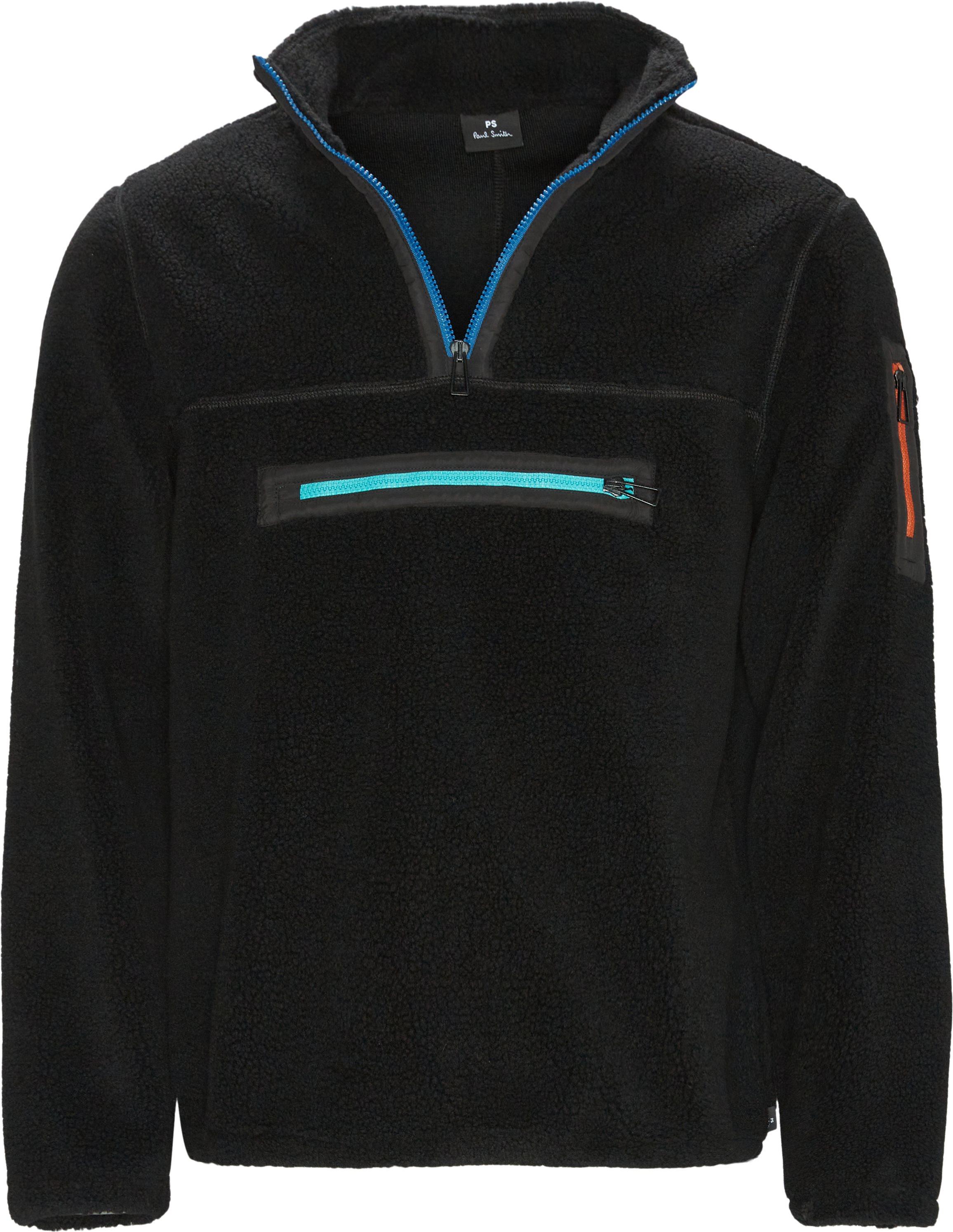 Fleece Half-zip - Overgangsjakker - Sort