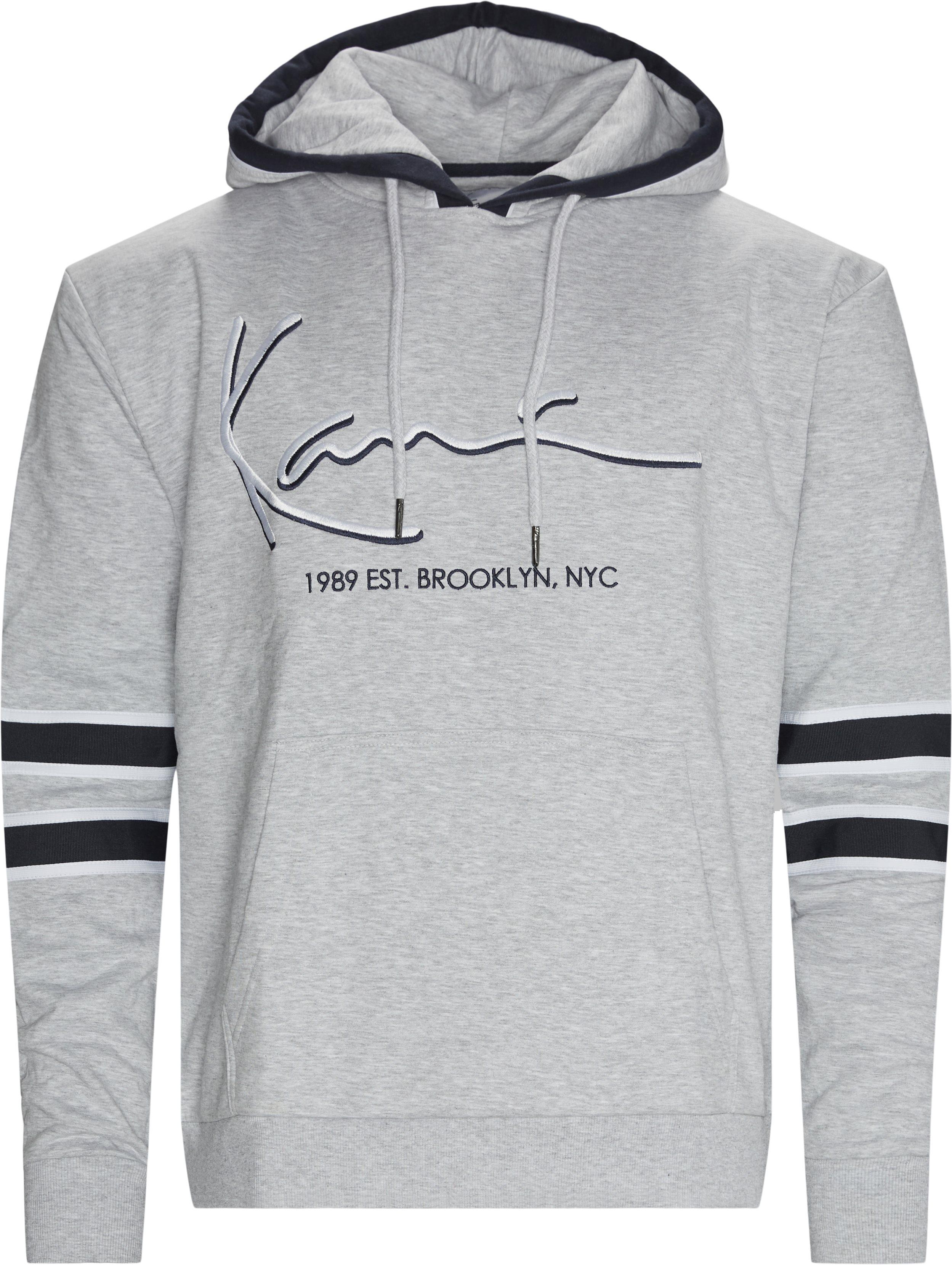 Signature Block Hoodie - Sweatshirts - Regular fit - Grå