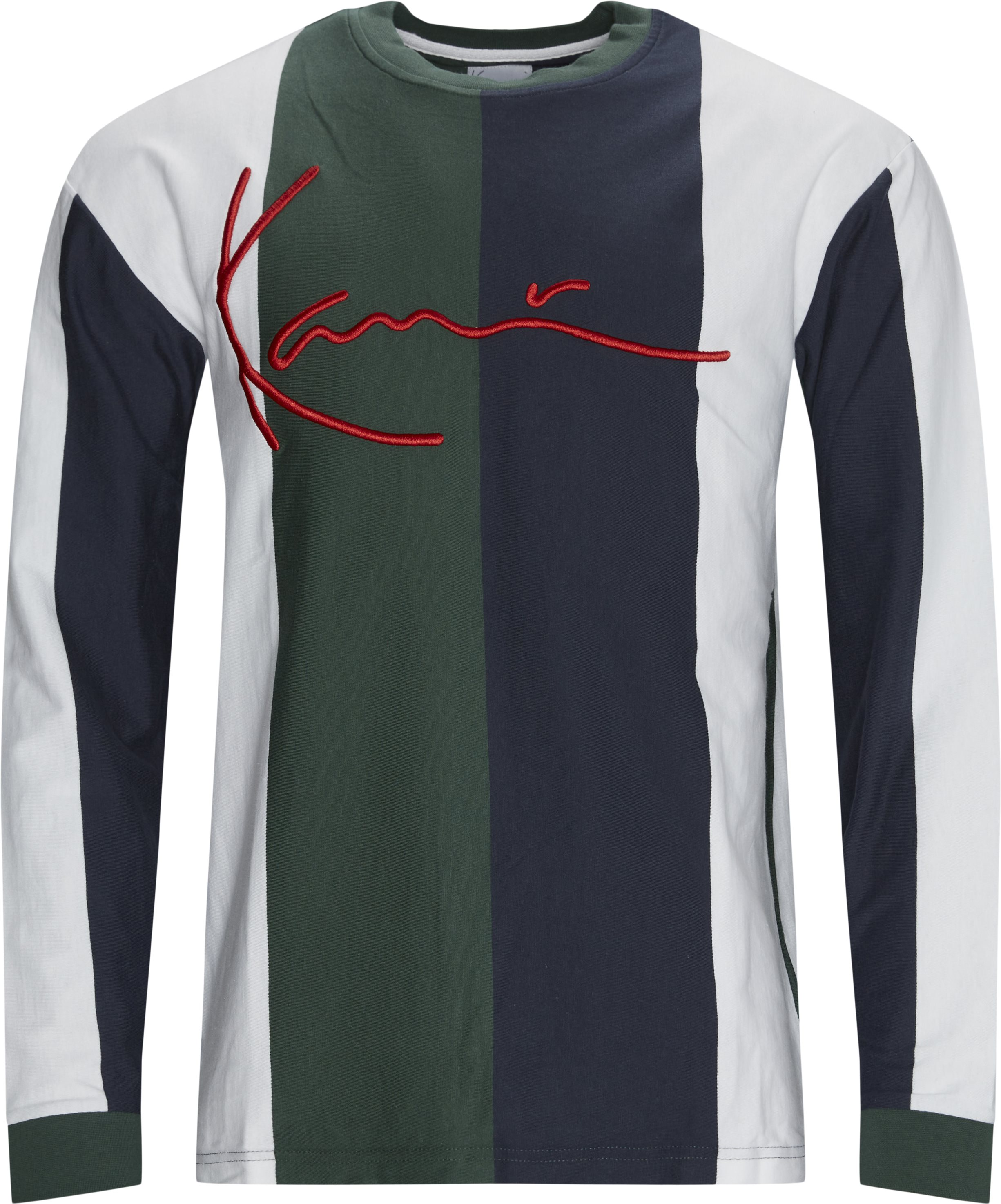 SIGNATURE STRIPE Langærmet - T-shirts - Regular fit - Grøn
