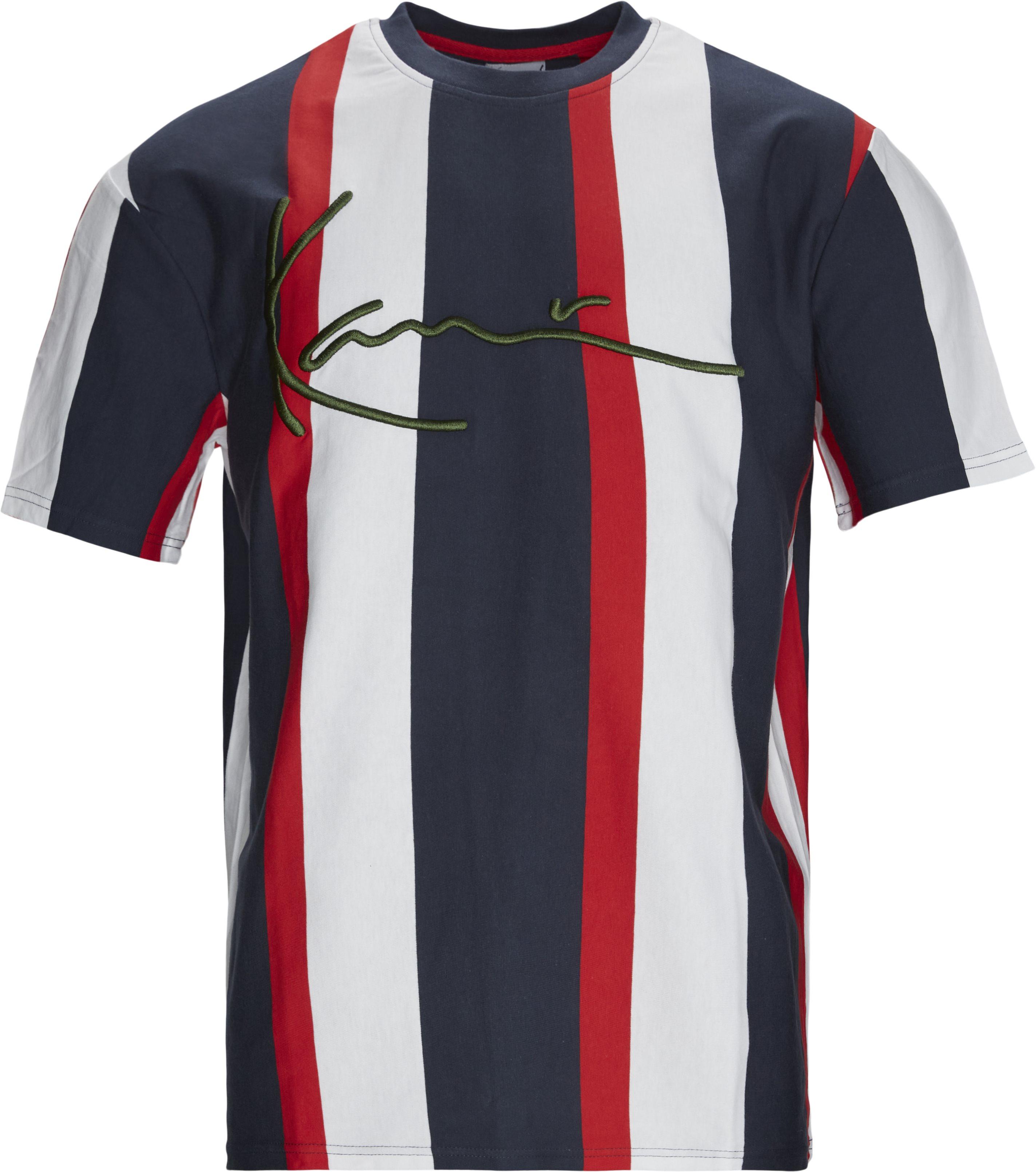 SIGNATURE STRIPE Tee - T-shirts - Regular fit - Blå