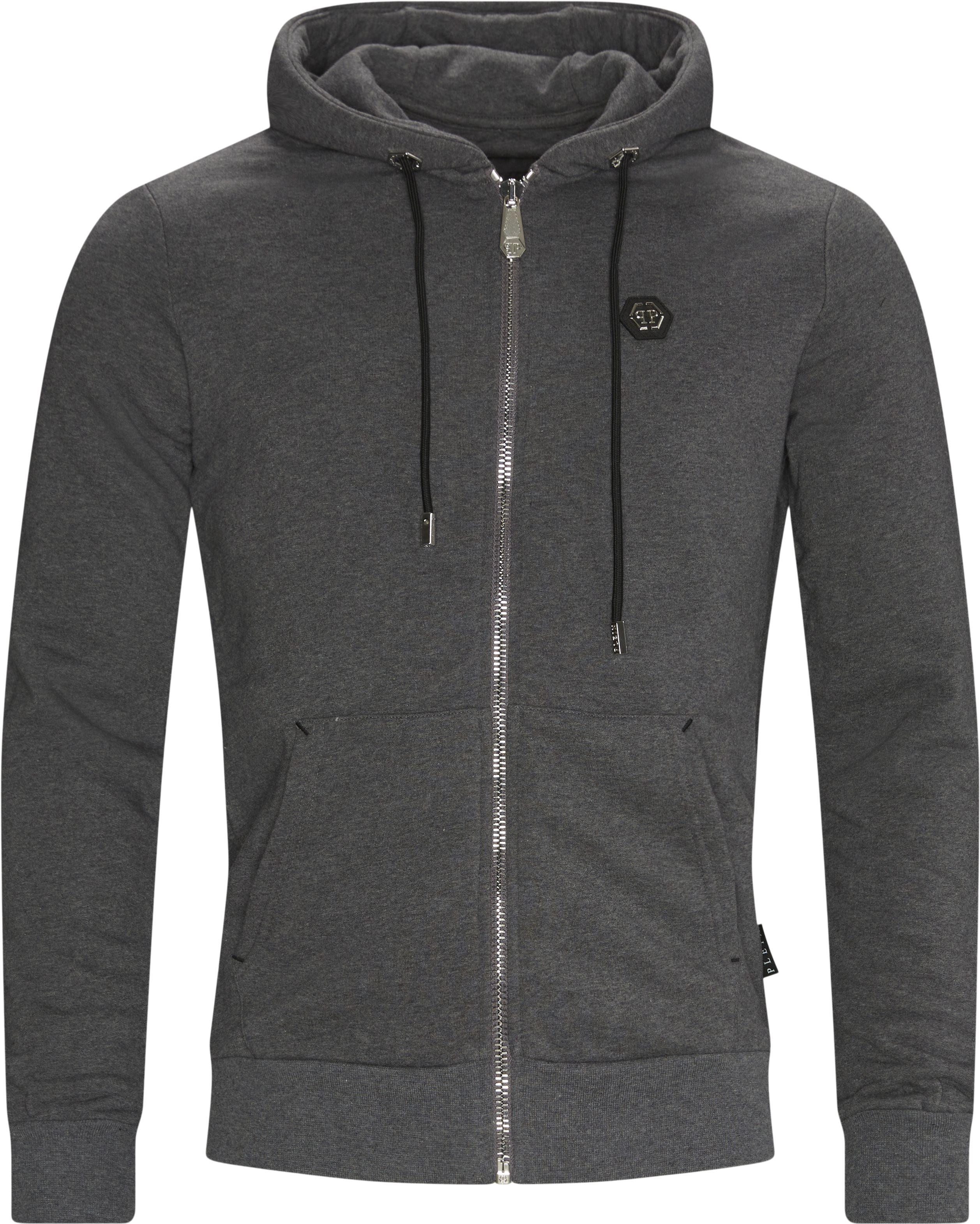 Hoodie Sweat Jacket - Sweatshirts - Loose fit - Grå