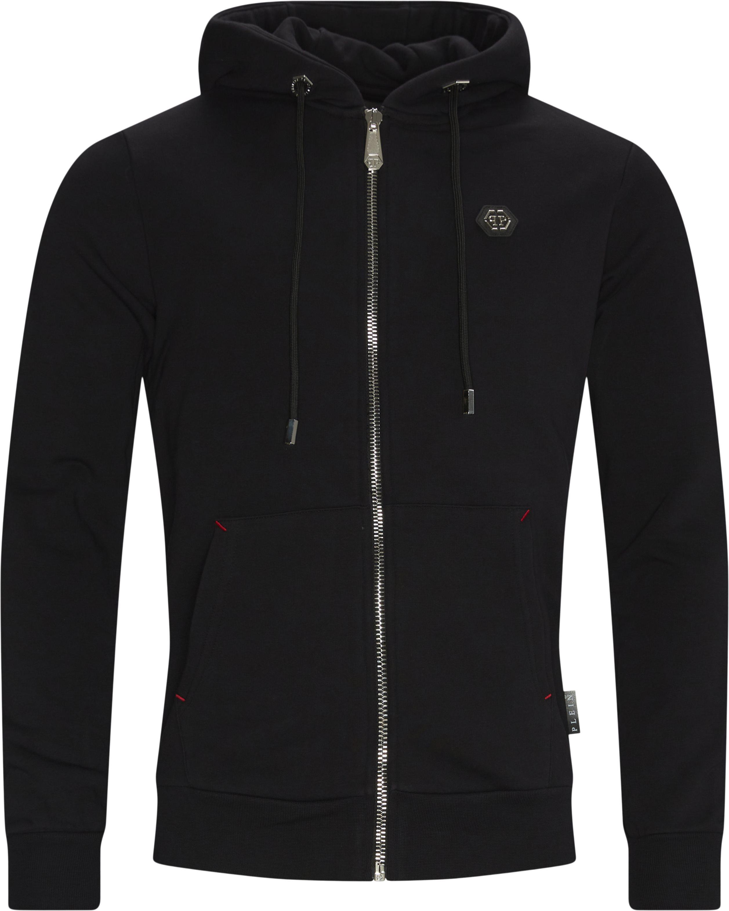 Hoodie Sweat Jacket - Sweatshirts - Loose fit - Sort