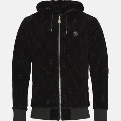 Hoodie Sweatjacket Monogram Regular fit | Hoodie Sweatjacket Monogram | Sort
